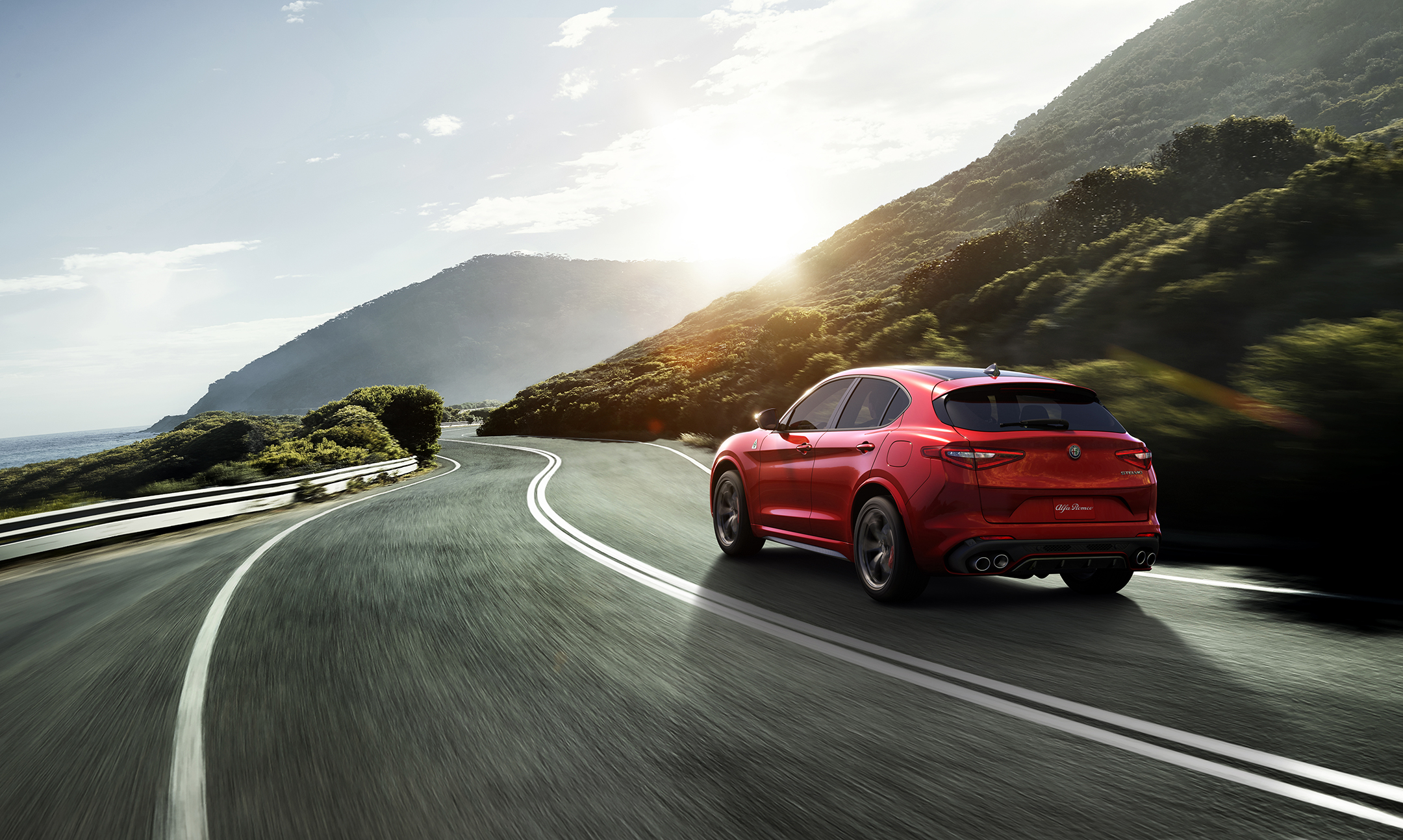 Alfa Romeo Stelvio - 2016 - rear road photo