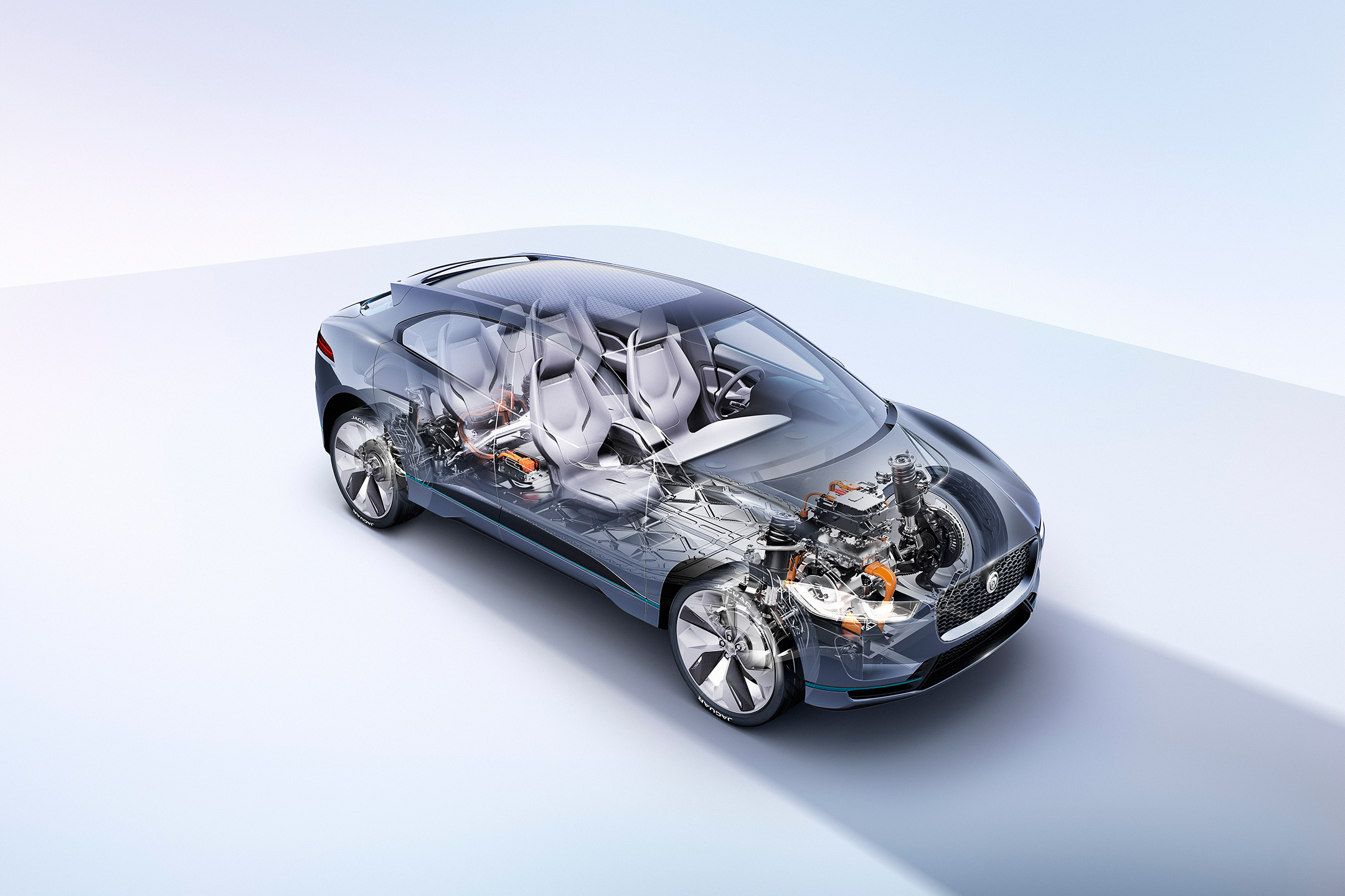 Jaguar I-PACE Concept - 2016 - powertrain - engine / moteur