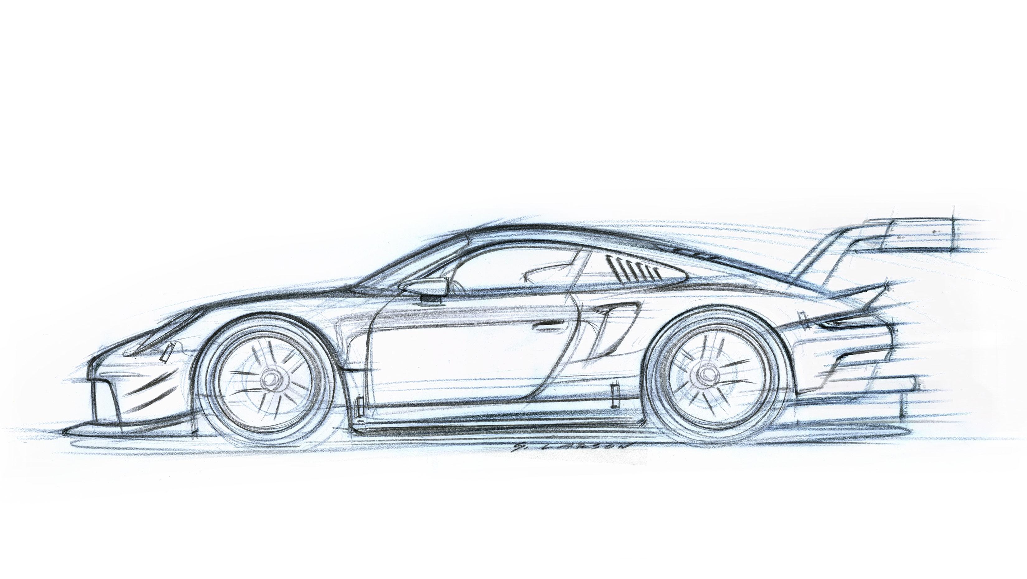Porsche 911 RSR - 2017 - sketch