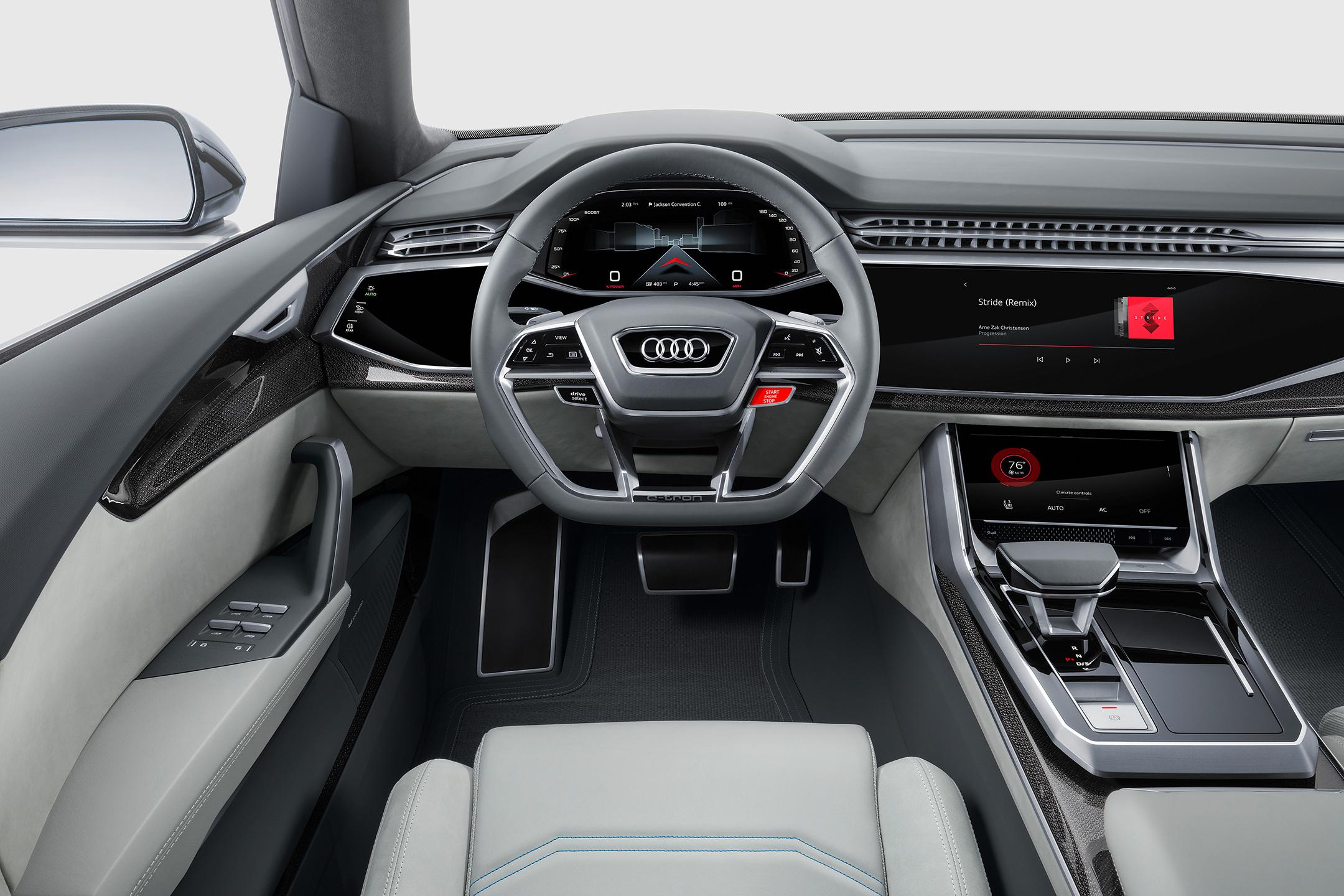 Audi Q8 concept - NAIAS 2017 - interior / intérieur