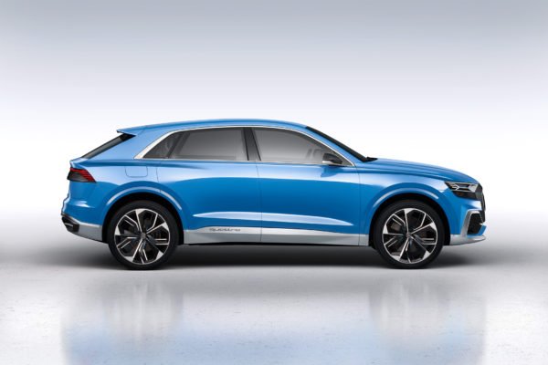 Audi Q8 concept - NAIAS 2017 - profil / side-face