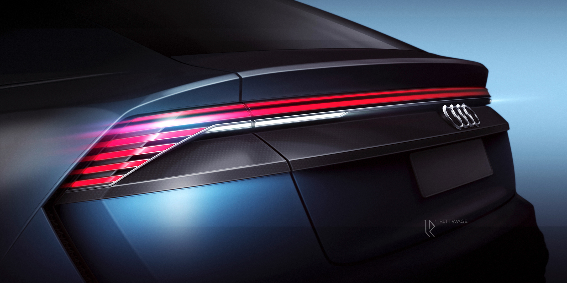 Audi Q8 concept - NAIAS 2017 - sketch - rear light