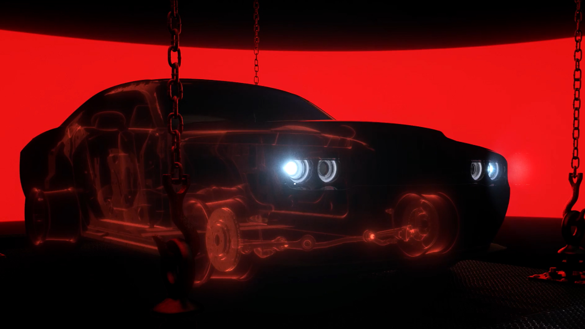 Dodge Challenger SRT Demon - 2017 - dark front light - teaser