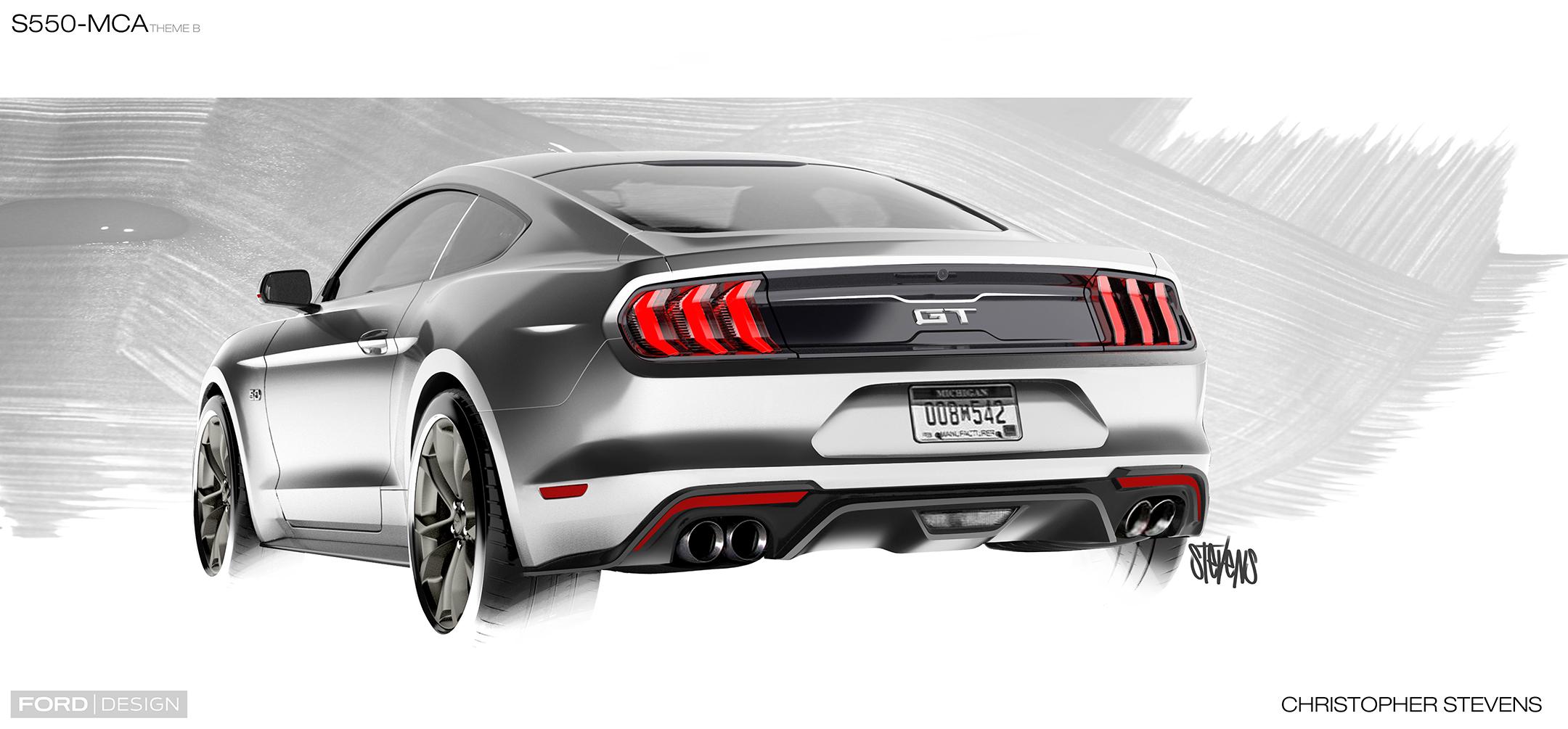 Mustang MY2018 - sketch - rear / arrière