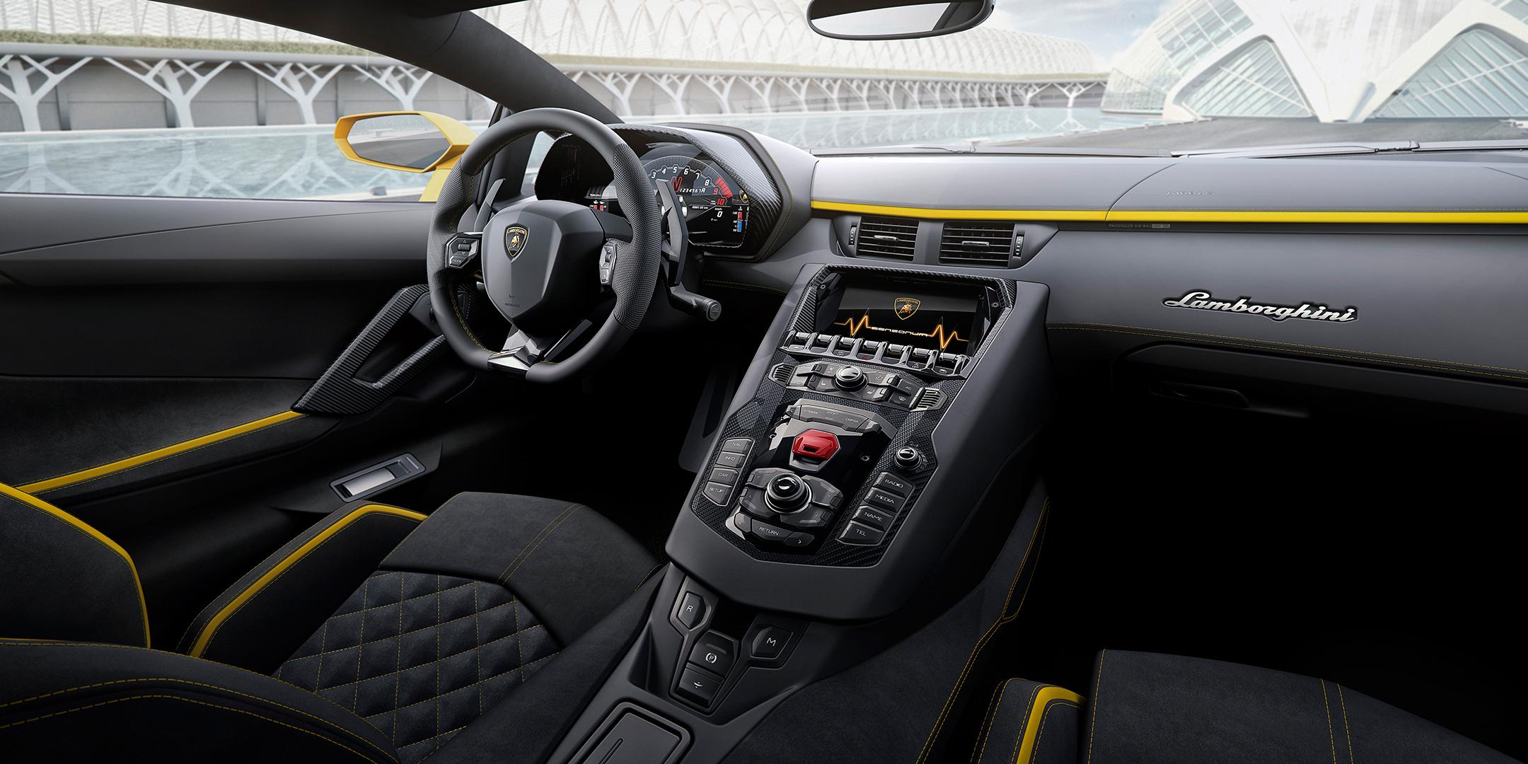 Lamborghini Aventador S - interior / intérieur