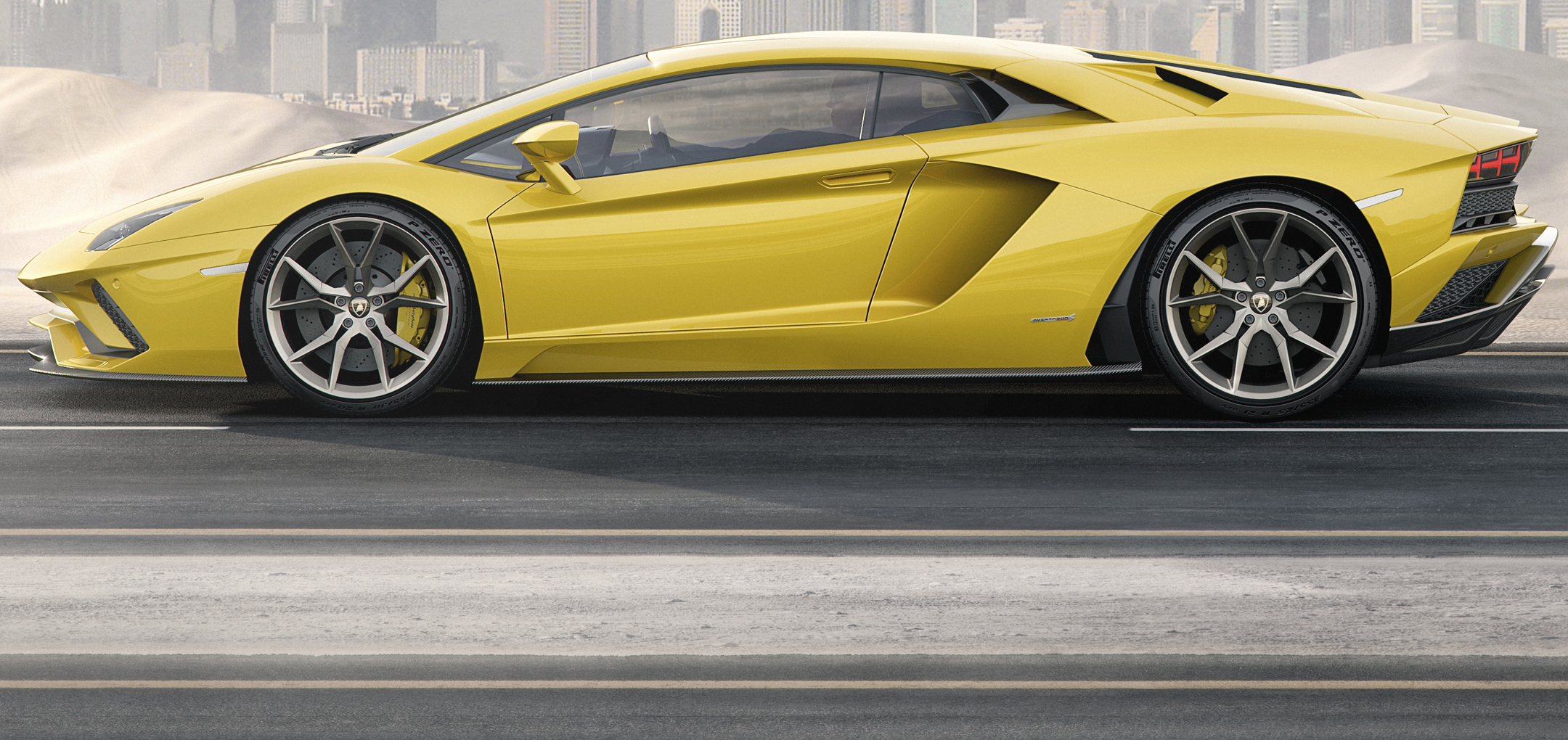 Lamborghini Aventador S - side-face / profil - wheel / jante