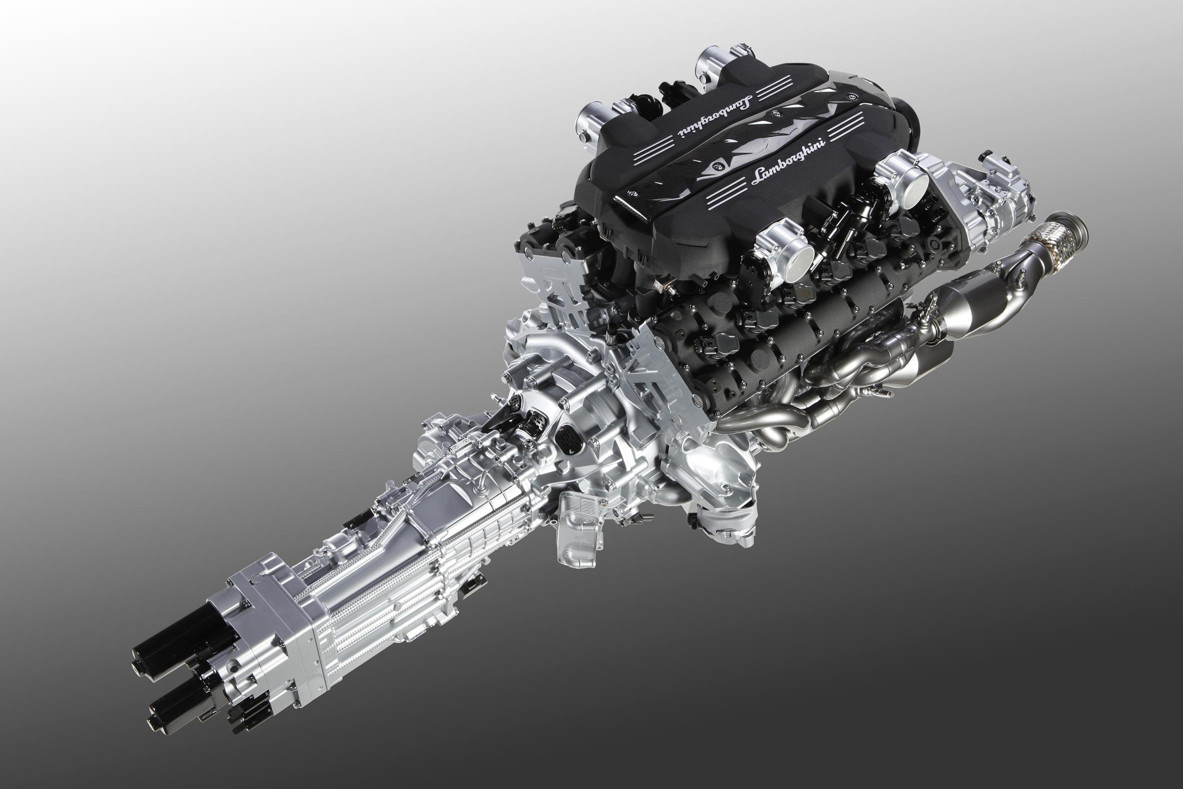 Lamborghini Aventador - V12 - engine - gearbox