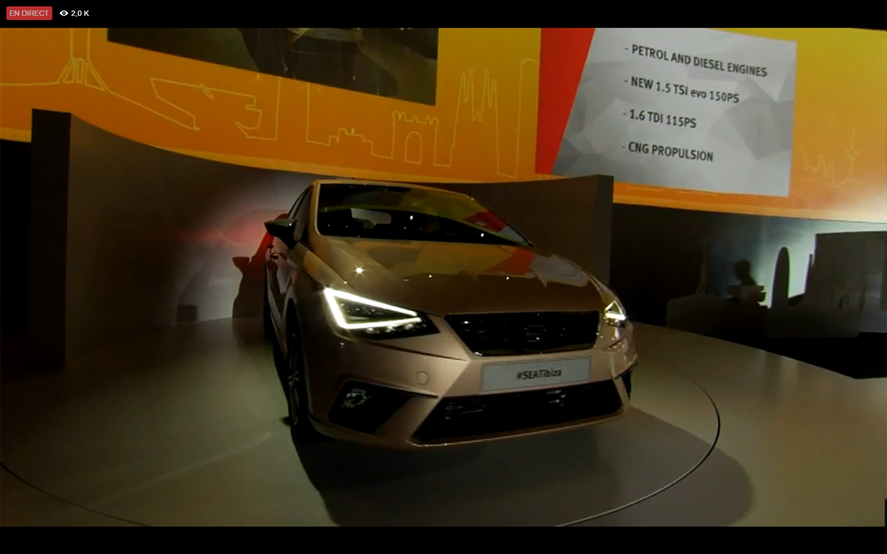 SEAT Ibiza 2017 - engine listing - live reveal