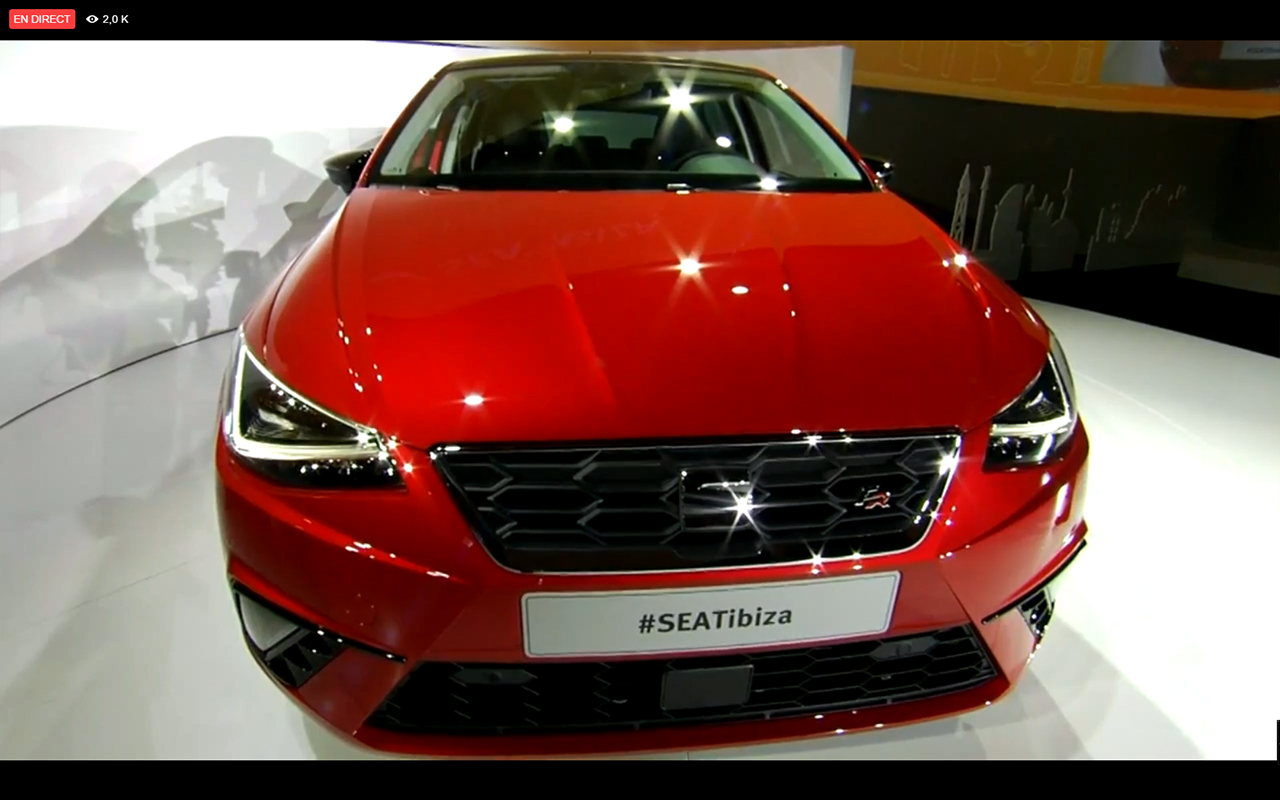 SEAT Ibiza 2017 - front / avant - live reveal