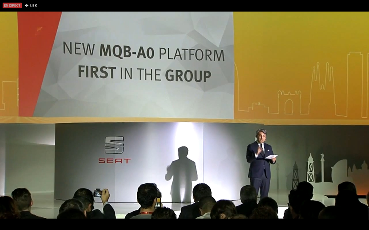 SEAT Ibiza 2017 - announcement MQB-A0 platform - live reveal