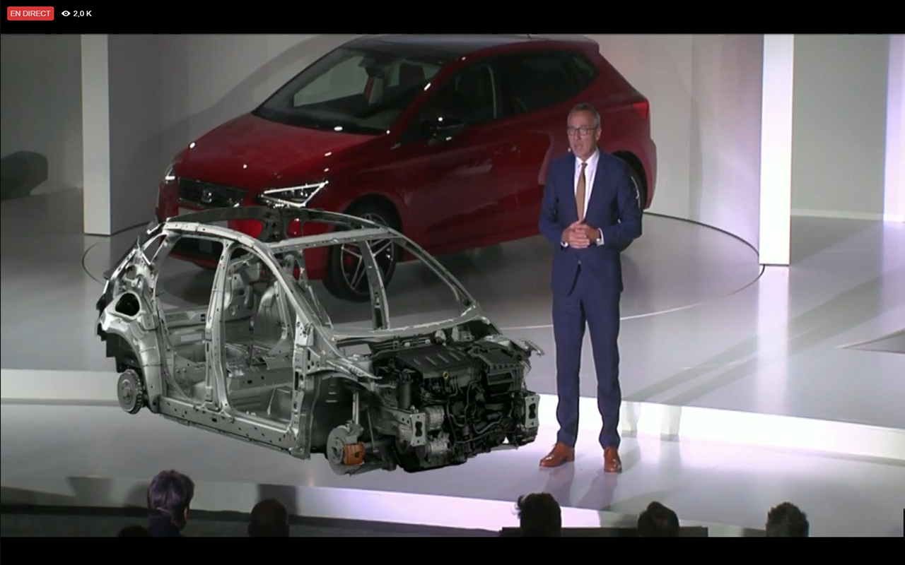 SEAT Ibiza 2017 - platform engine - live reveal