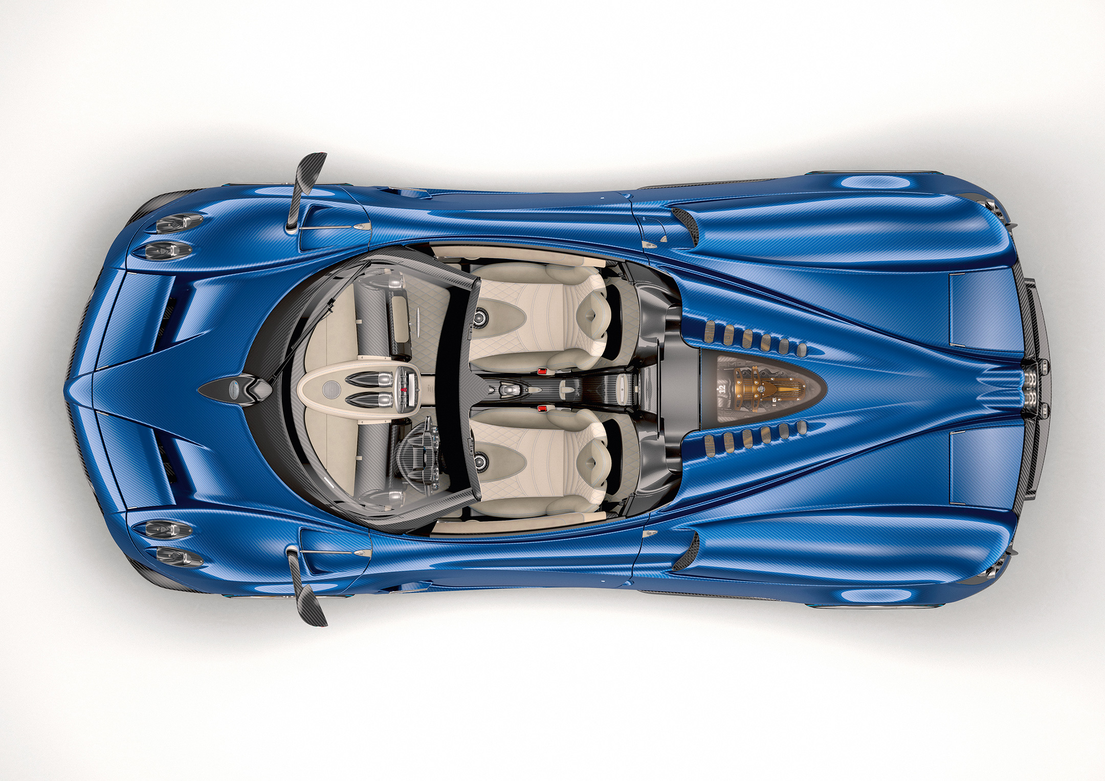 Pagani Huayra Roadster - 2017 - top view