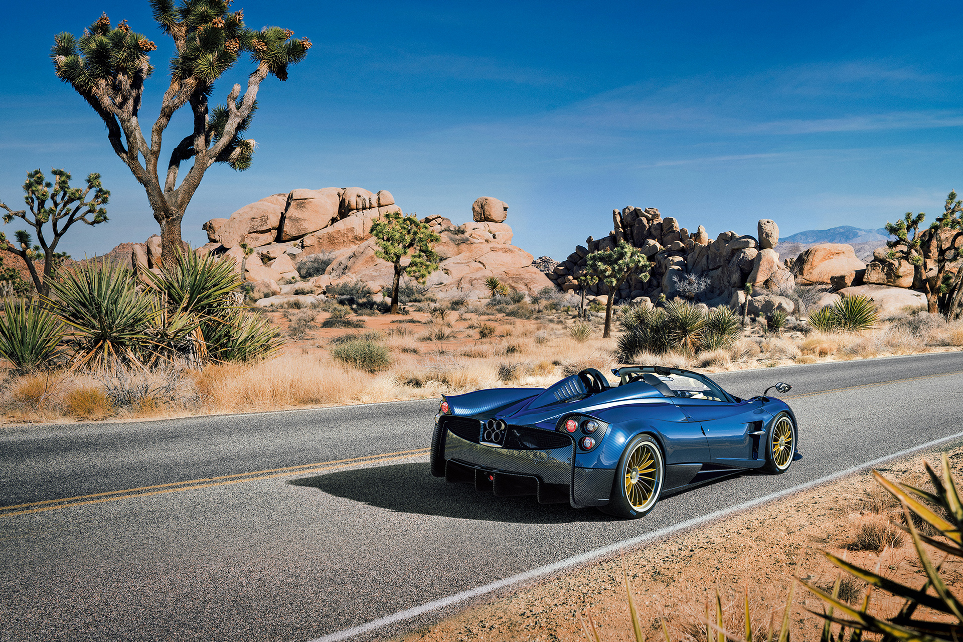 Pagani Huayra Roadster - 2017 - rear road