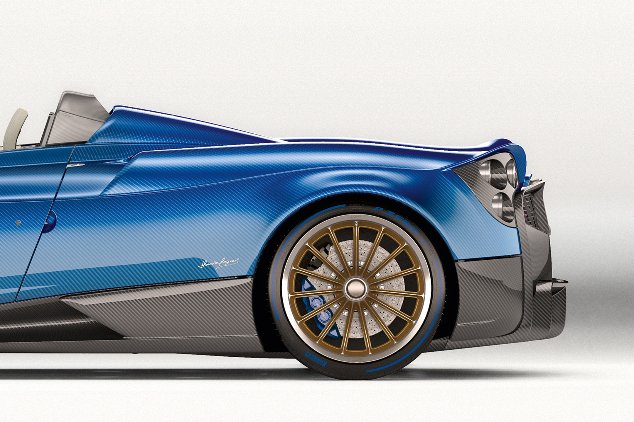 Pagani Huayra Roadster - 2017 - rear wheel / roue arrière