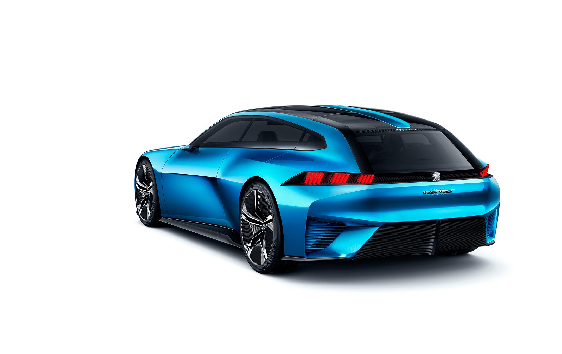 Peugeot Instinct Concept - 2017 - profil arrière / rear side-face