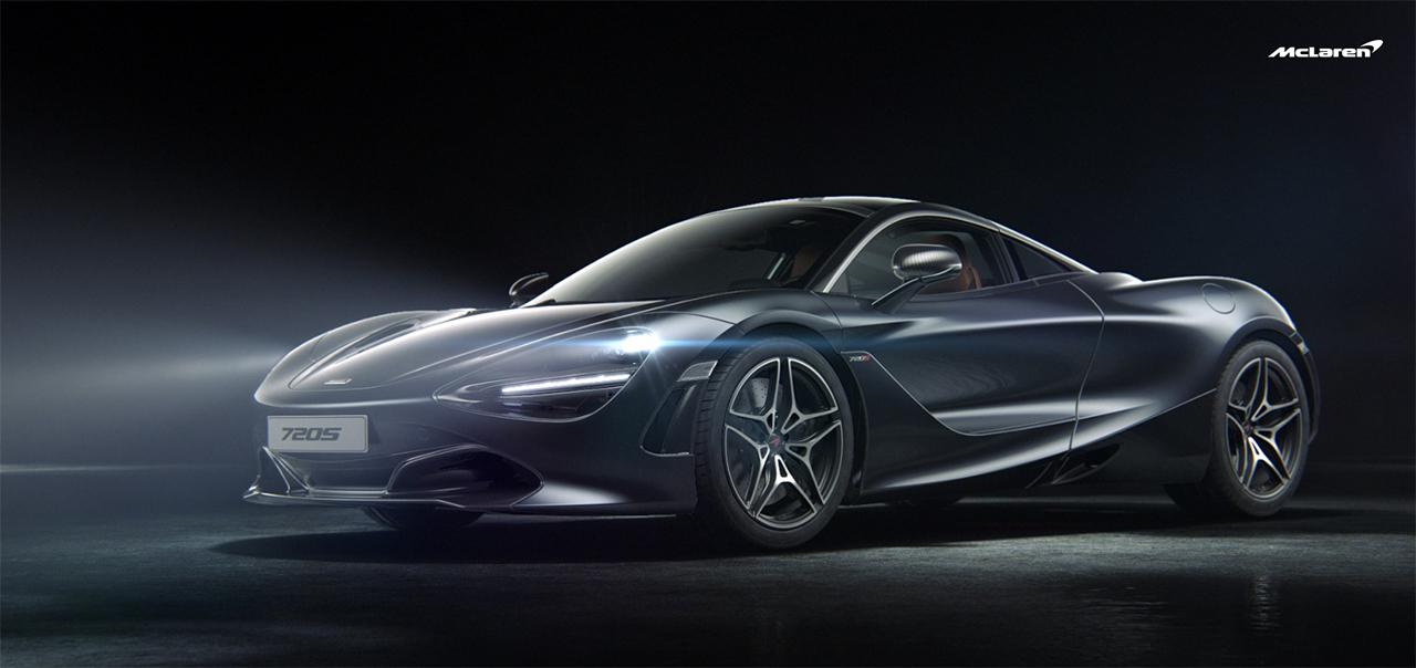 McLaren 720S - 2017 - front side-face / profil avant - Black