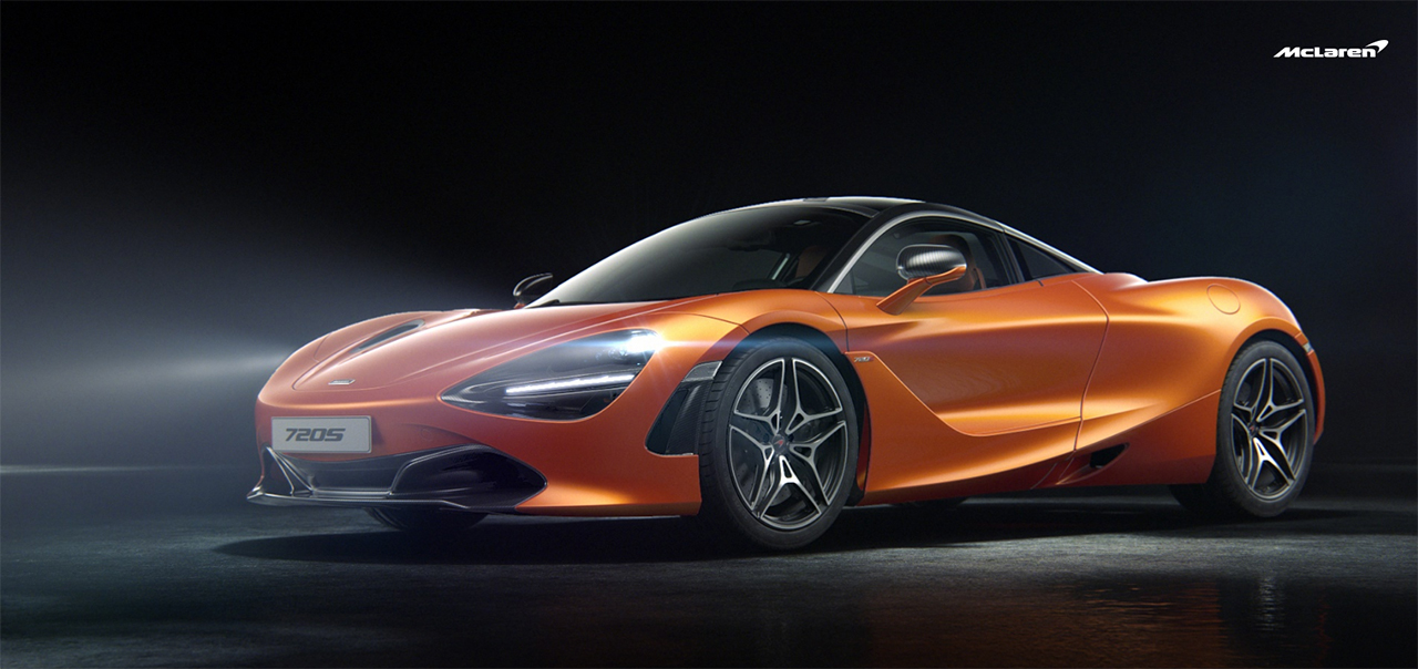 McLaren 720S - 2017 - front side-face / profil avant - Orange
