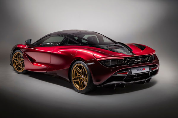 McLaren 720S MSO Velocity - 2017 - rear side-face / profil arrière - Red