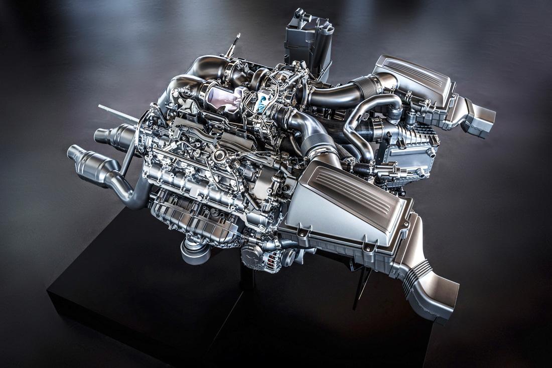 Moteur V8 4.0 litres biturbo – Mercedes-Benz AMG