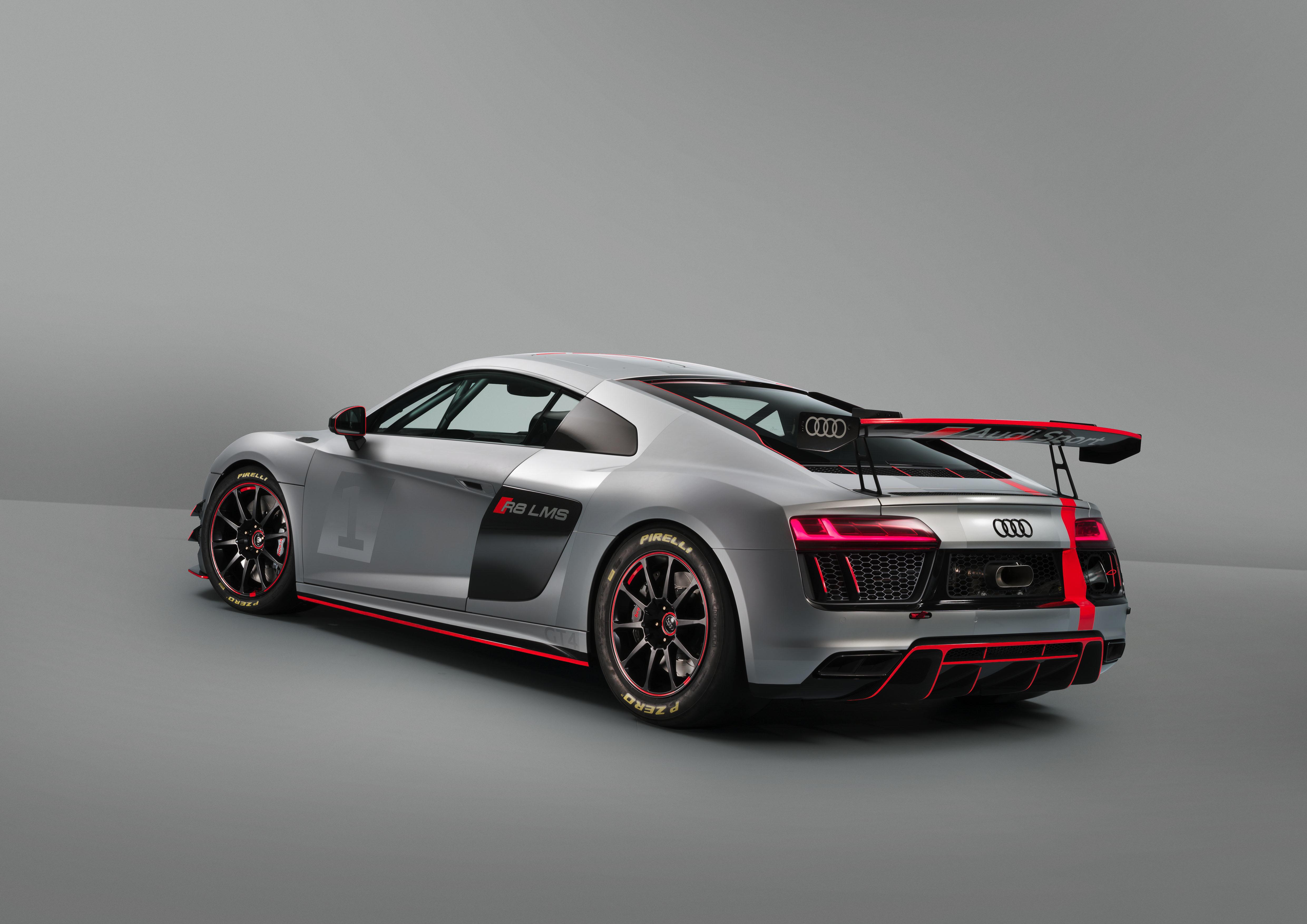 Audi R8 LMS GT4 - 2017 - rear side-face / profil arrière