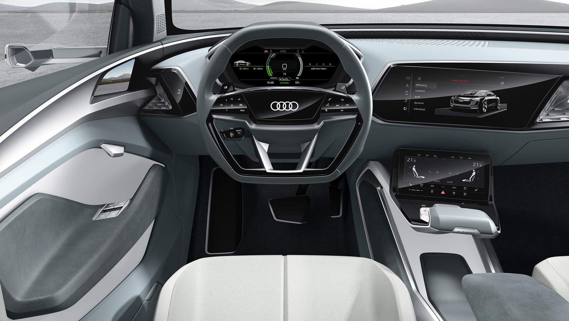 Audi e-tron Sportback concept - 2017 - driving wheel / volant