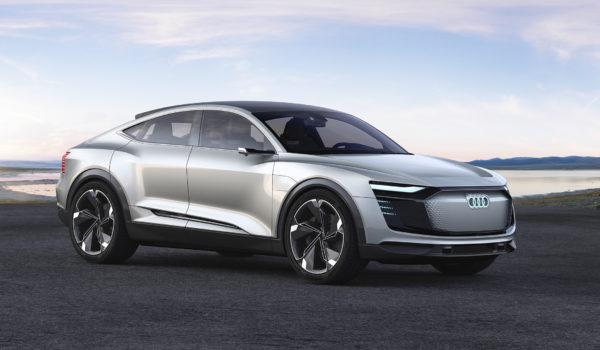 Audi e-tron Sportback concept - 2017 - front side-face / profil avant