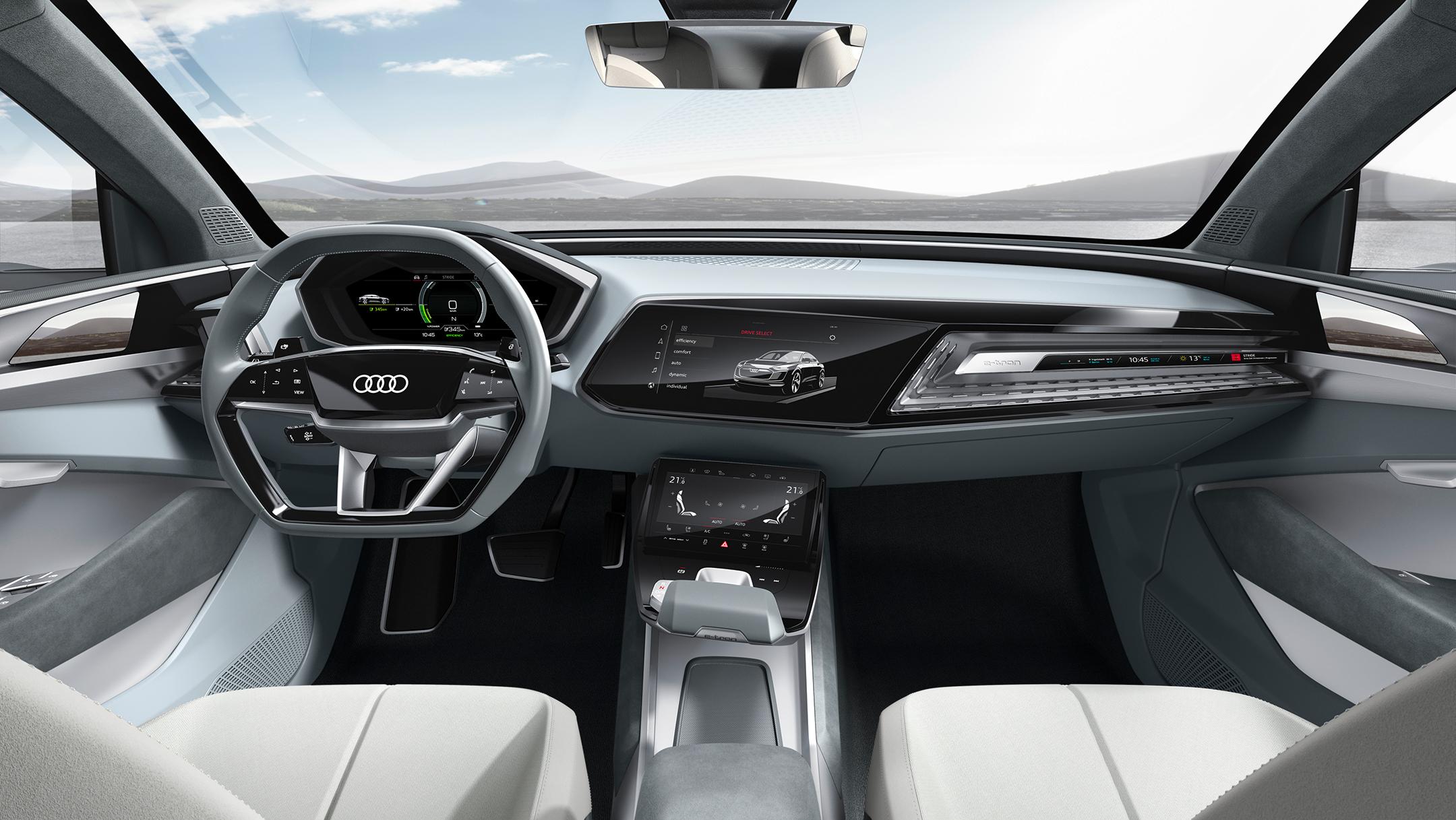 Audi e-tron Sportback concept - 2017 - interior / intérieur