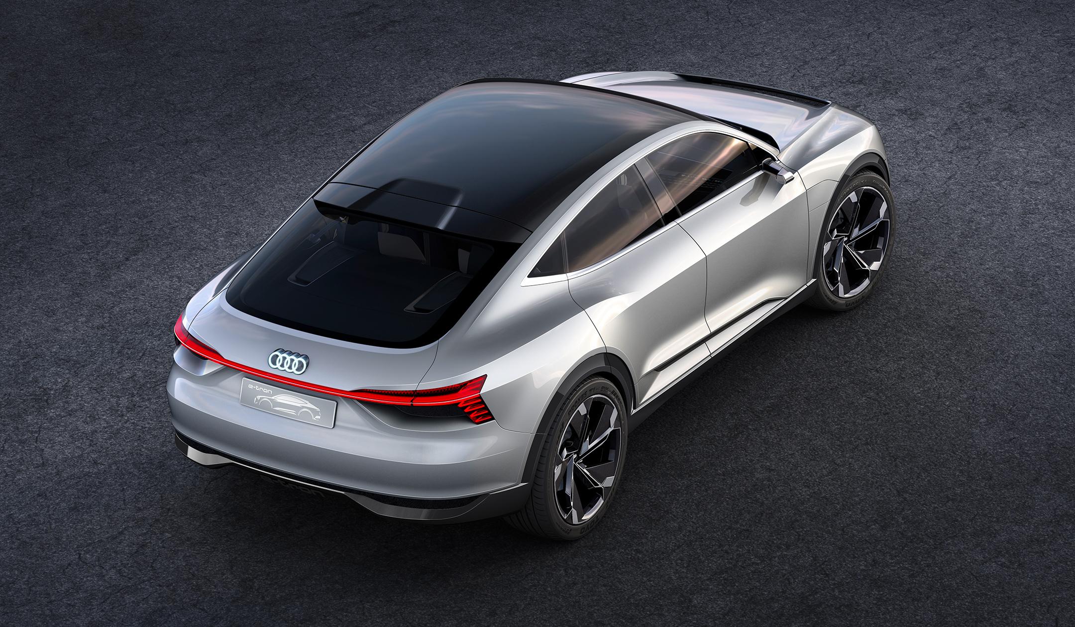 Audi e-tron Sportback concept - 2017 - rear top / toit arrière