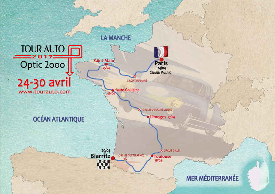 Tour Auto 2017 - carte