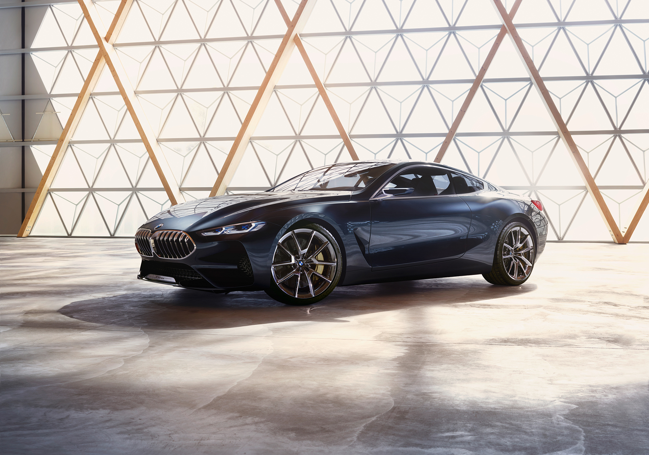 BMW concept 8 series - 2017 - front side-face / profil avant