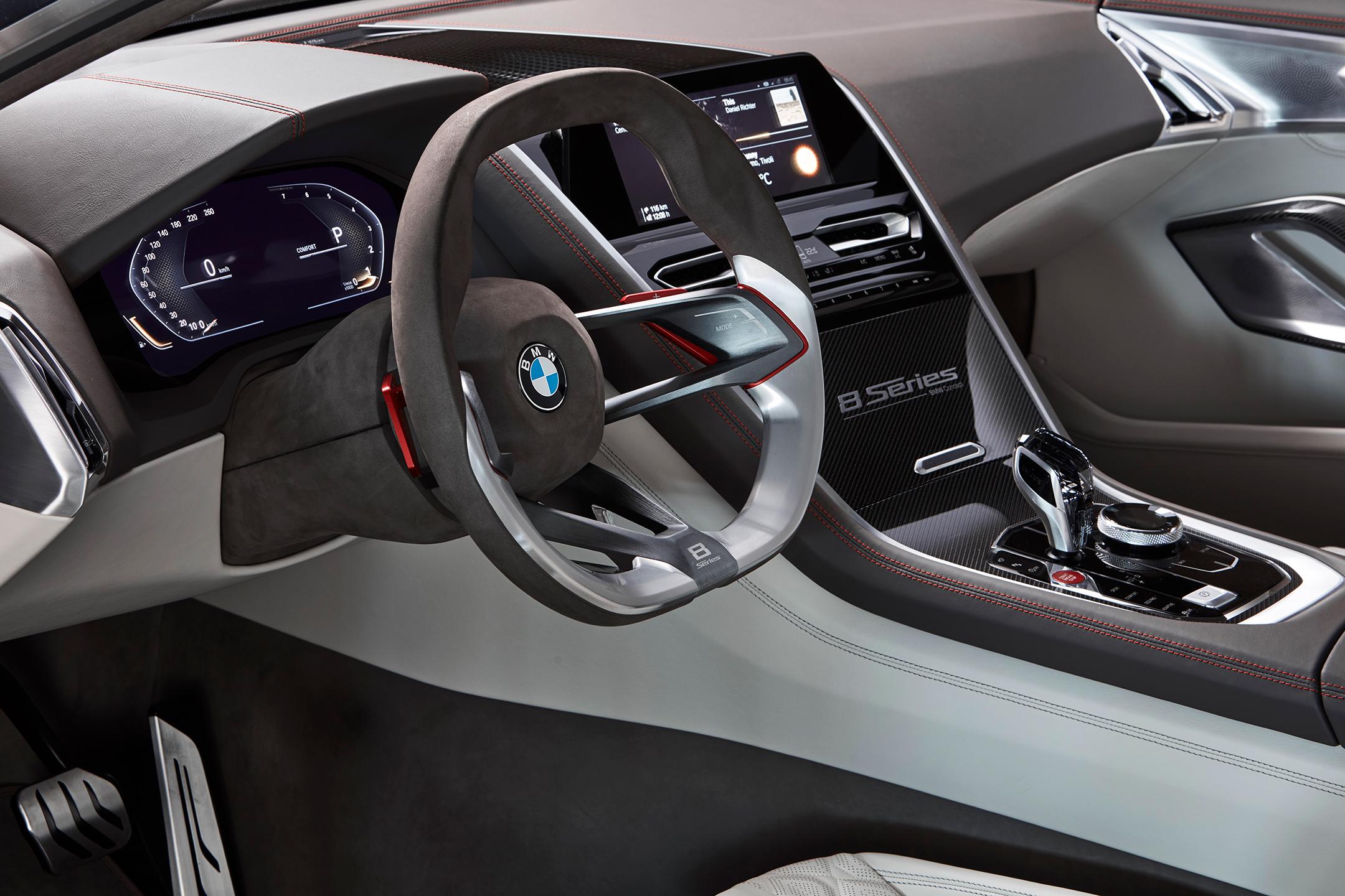 BMW concept 8 series - 2017 - interior / intérieur