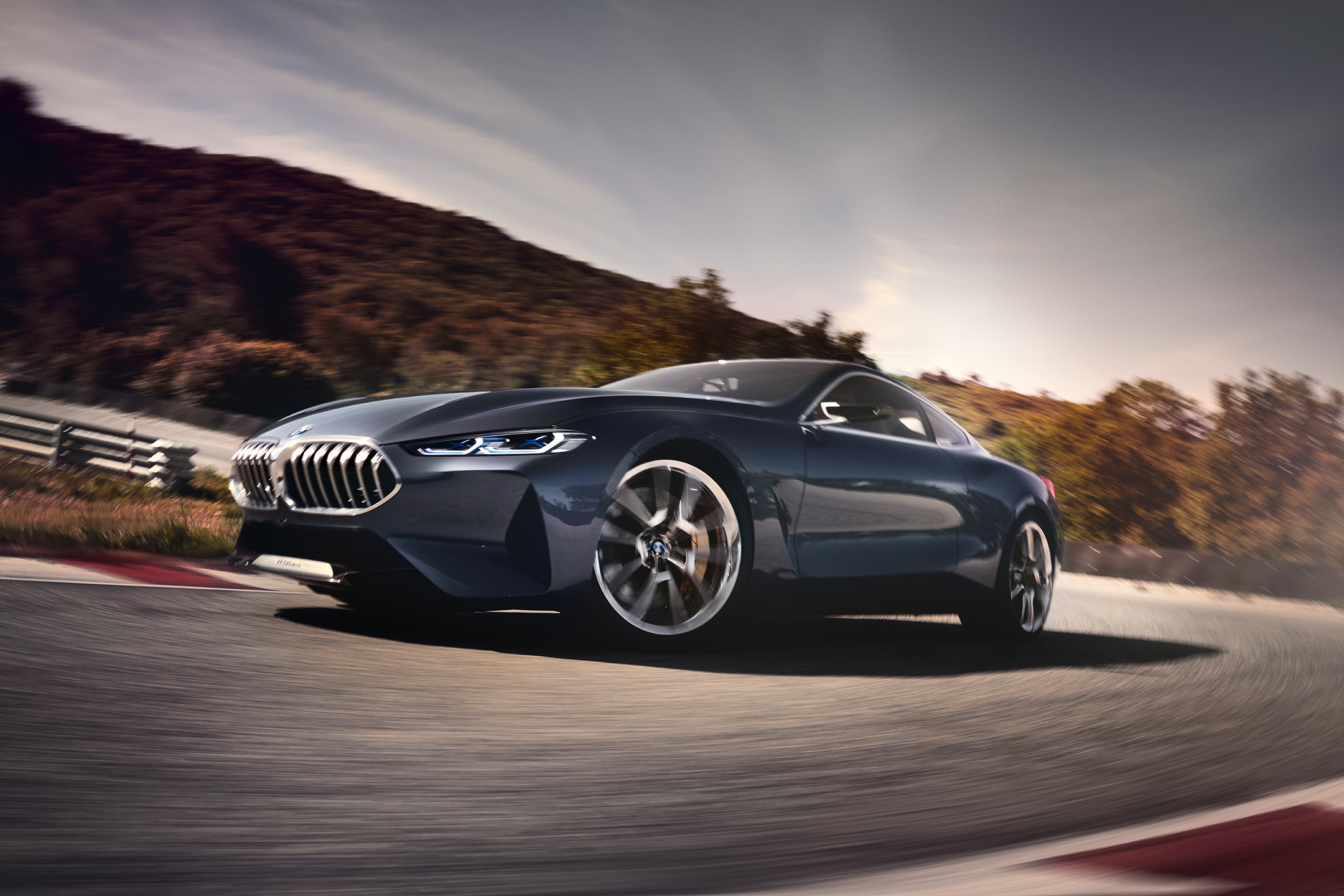 BMW concept 8 series - 2017 - side-face track