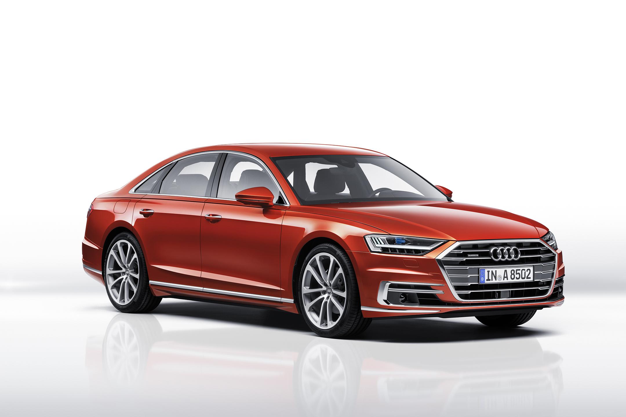 Audi A8 - 2017 - front side-face  / profil avant