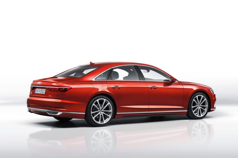 Audi A8 - 2017 - rear side-face / profil arrière