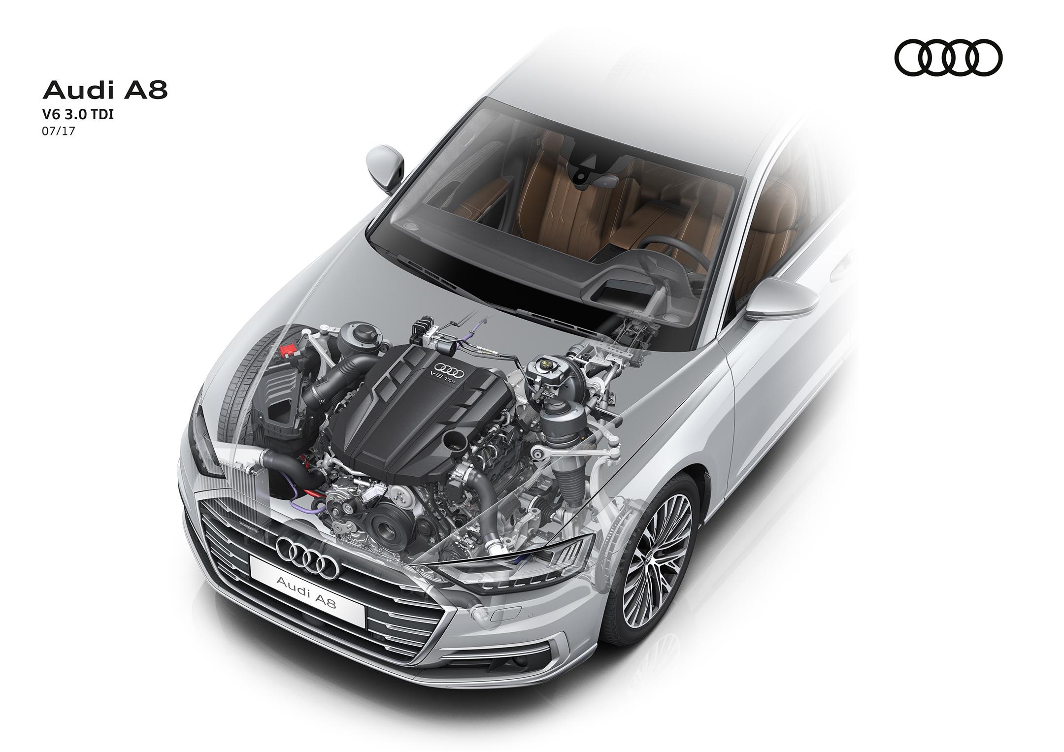Audi A8 - 2017 - engine / moteur - V6 3.0 TDI