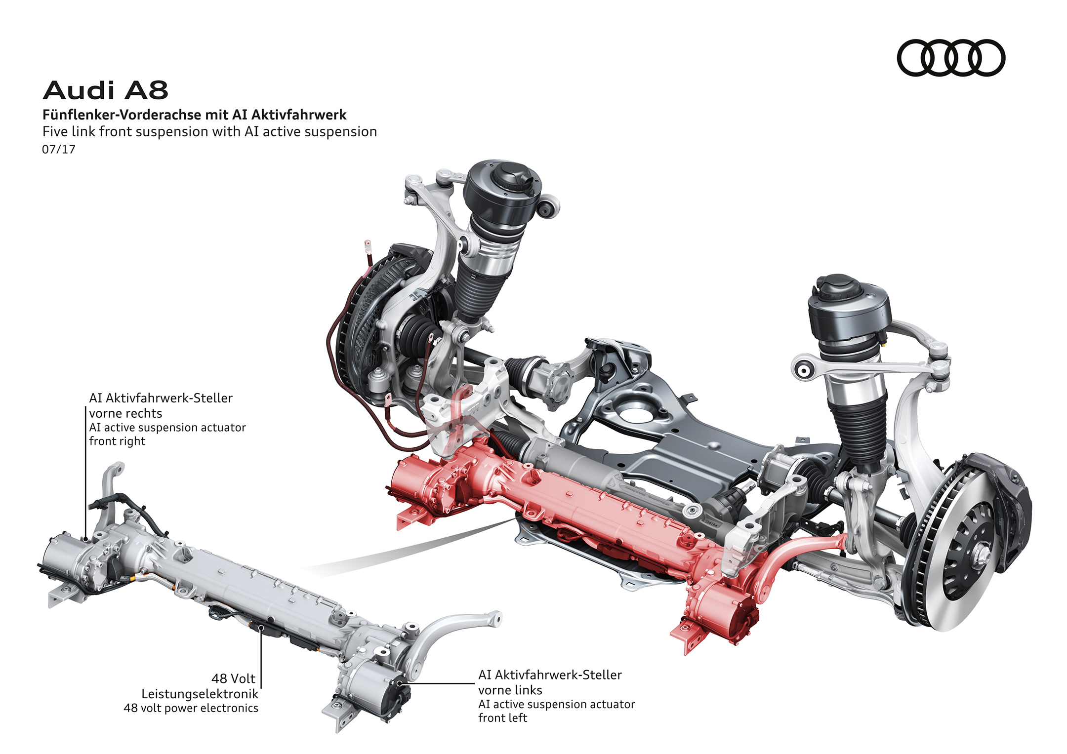 Audi A8 - 2017 - front - Audi AI active suspension
