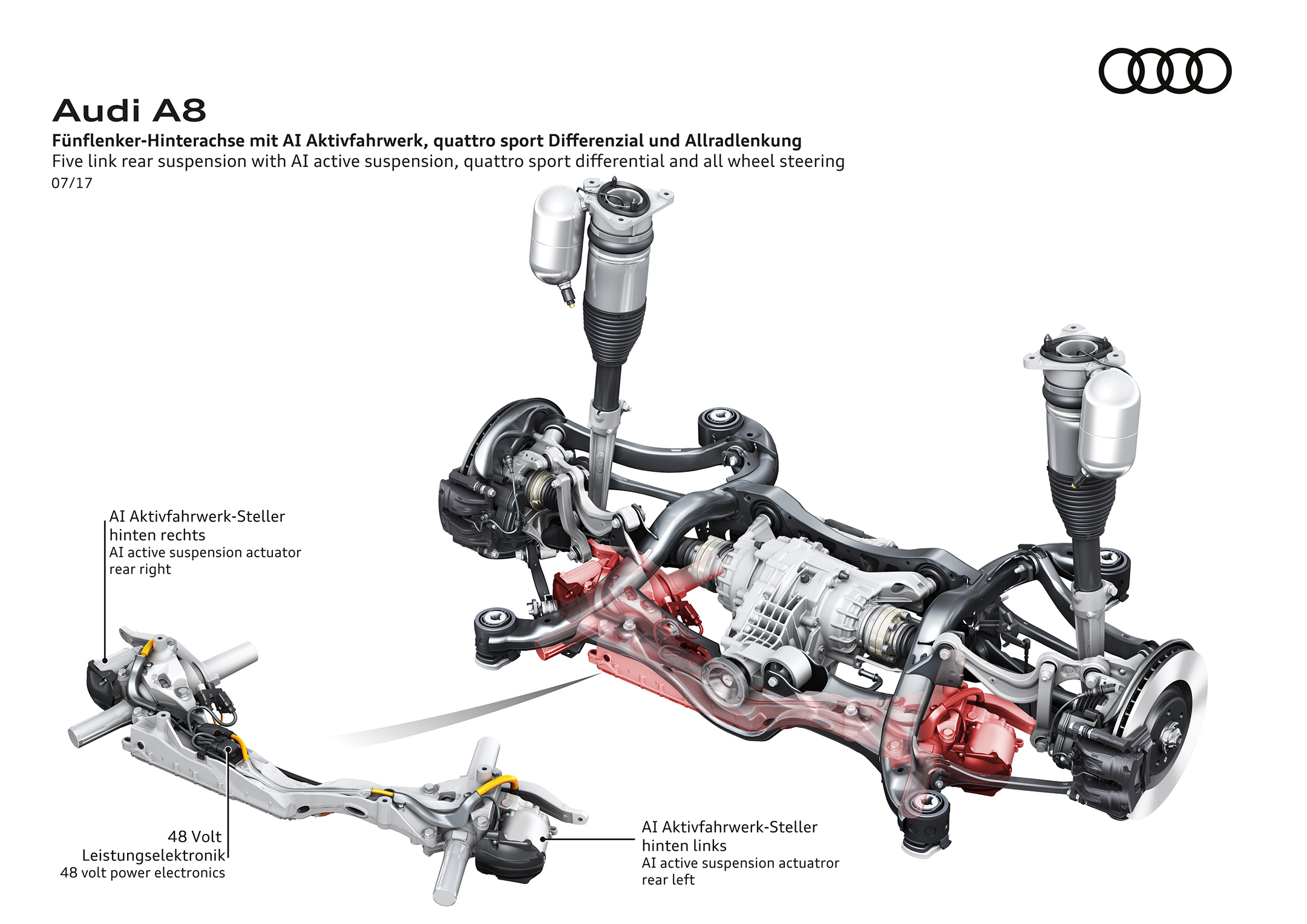 Audi A8 - 2017 - rear - Audi AI active suspension