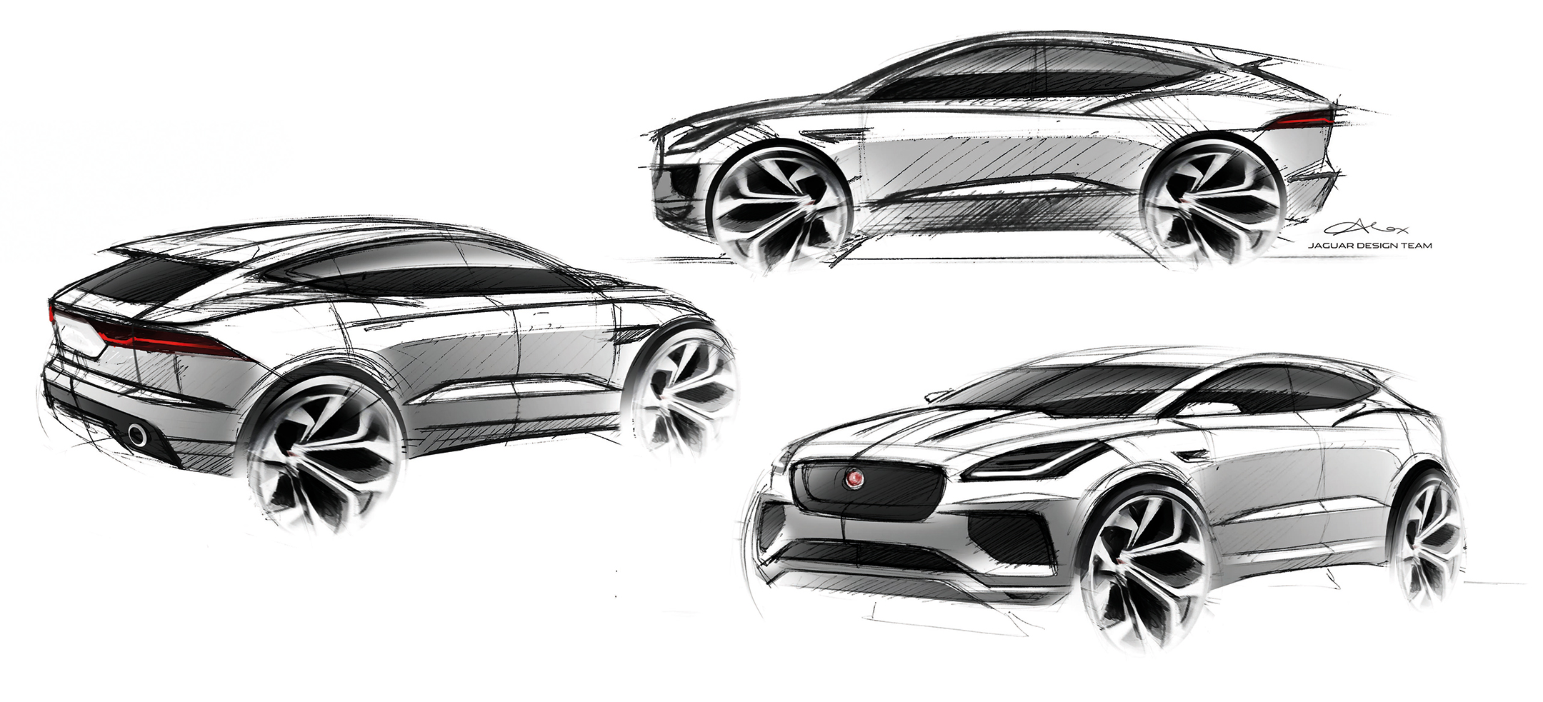 Jaguar E-PACE - 2017 - sketch design