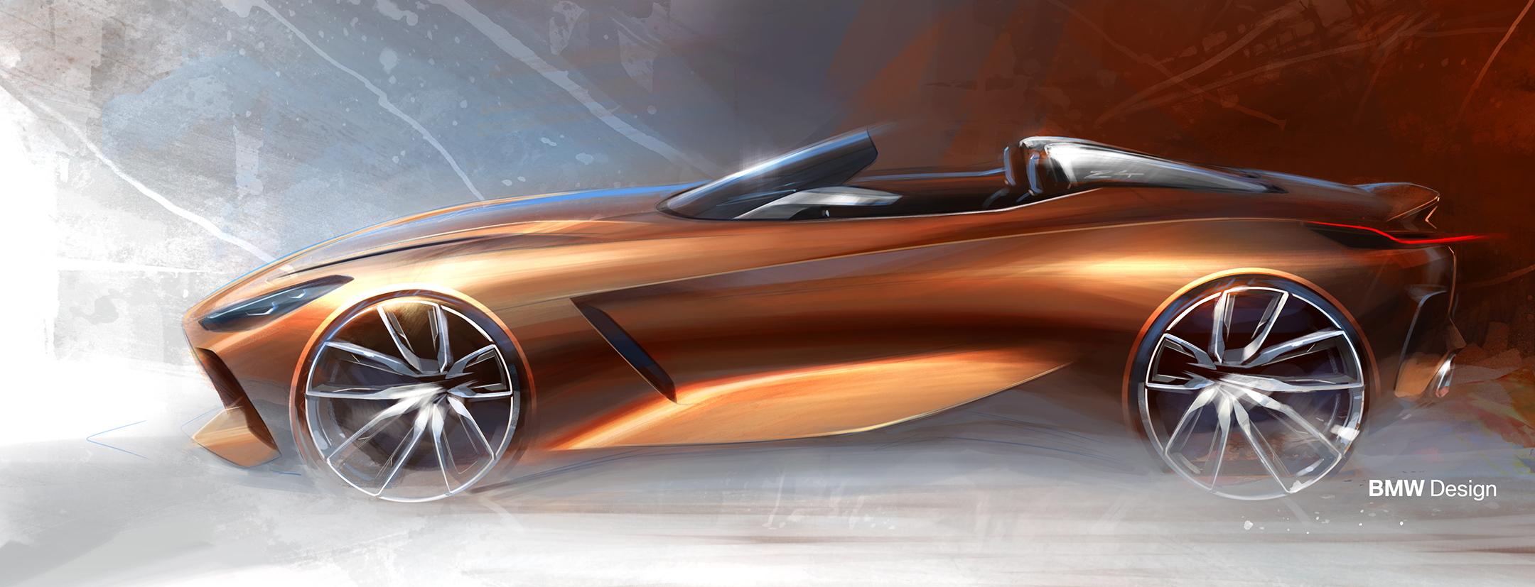 BMW Concept Z4 - 2017 - sketch - side-face / profil