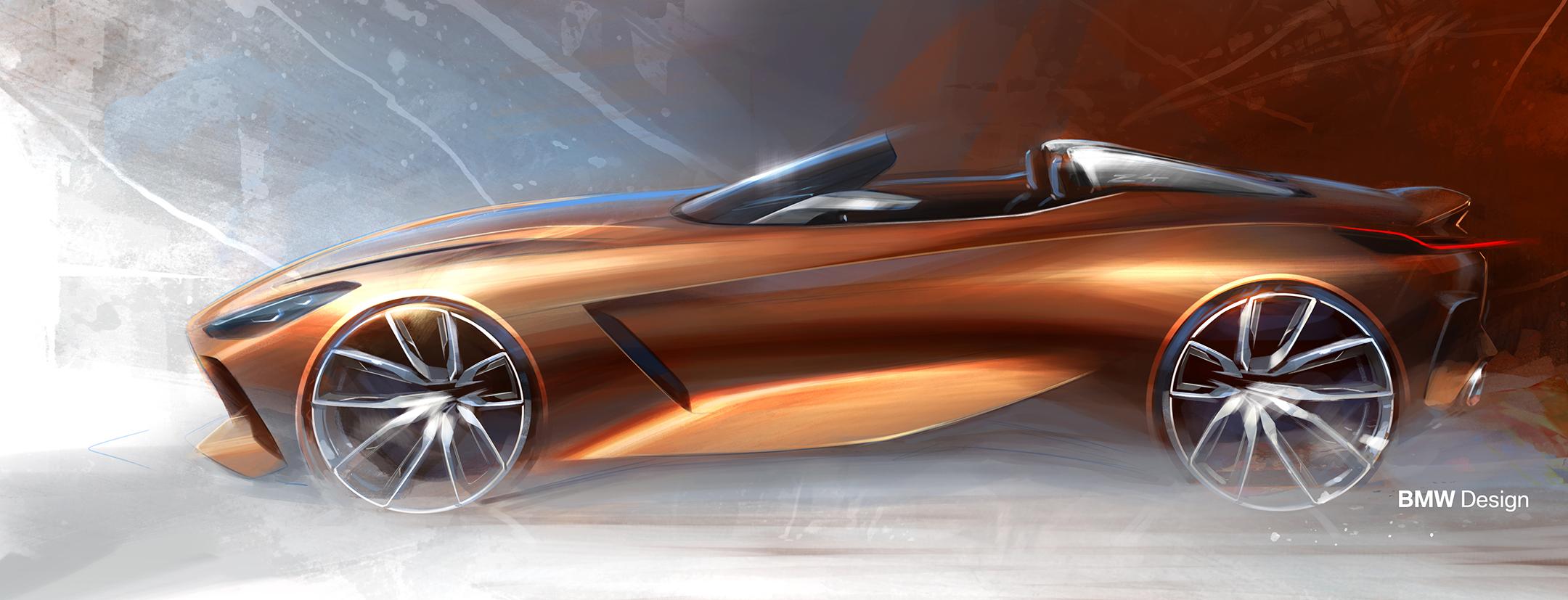 BMW Concept Z4 - 2017 - sketch - side-face / profil