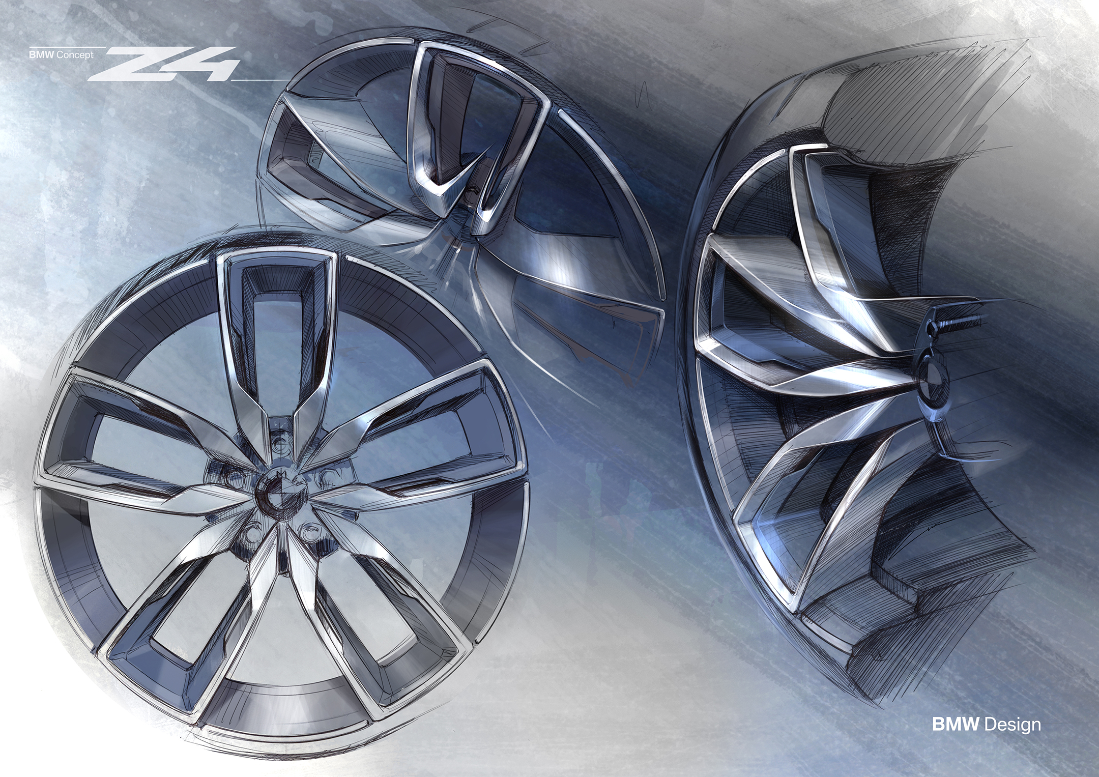 BMW Concept Z4 - 2017 - sketch - wheel / jante