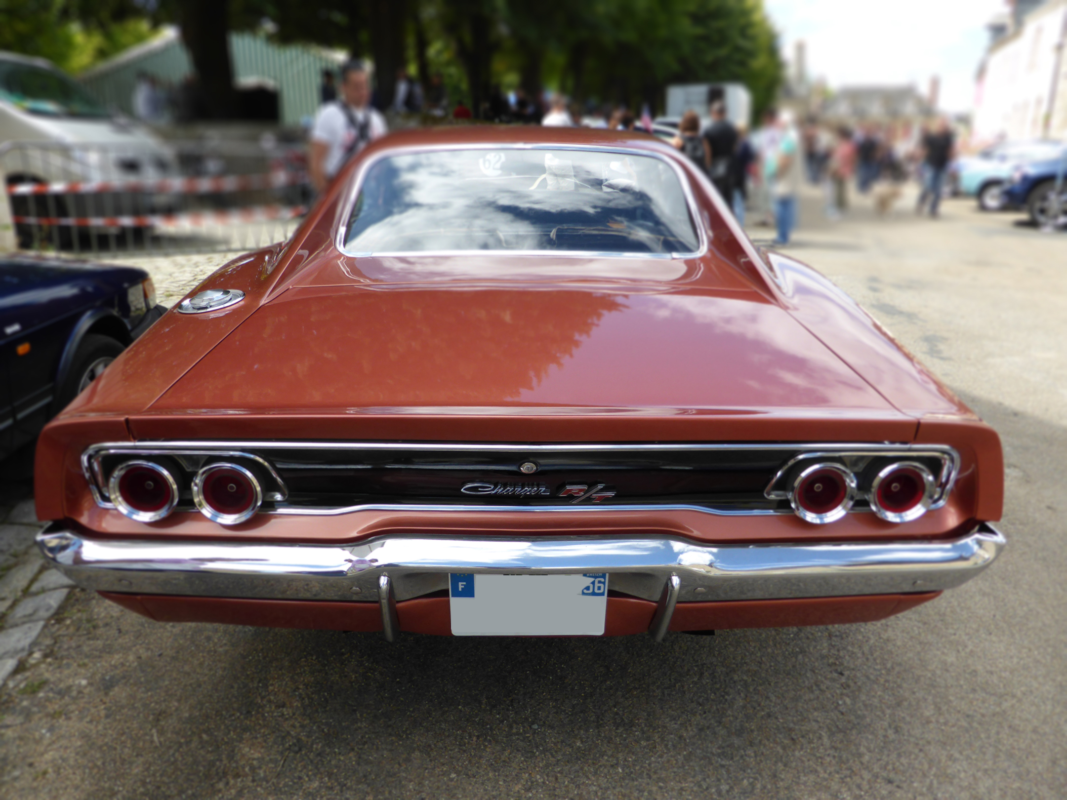 Dodge Charger R/T - 1968 - rear face - US Cars and Bikes 2017 - Photo by ELJ