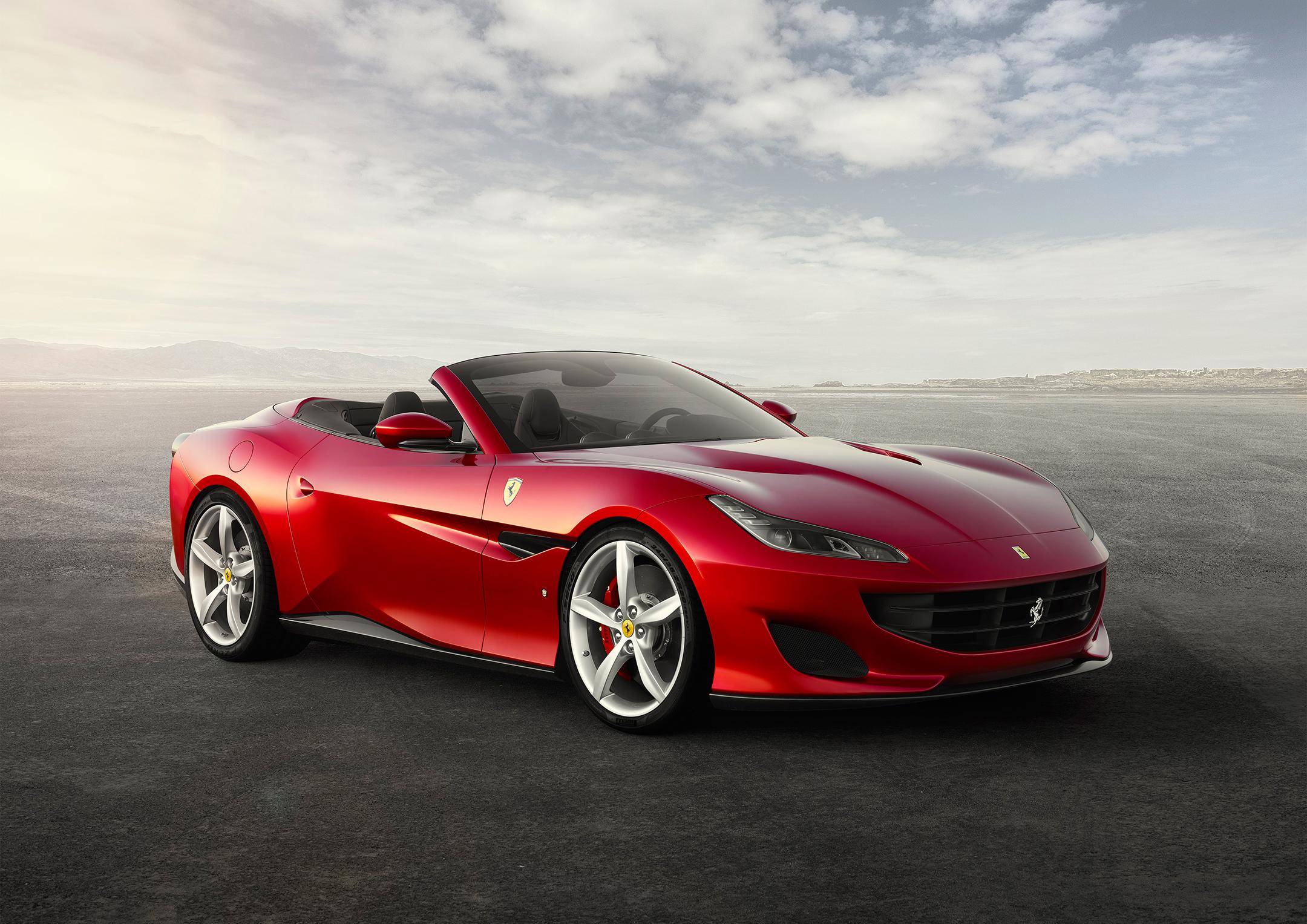 Ferrari Portofino - 2017 - front side-face / profil avant