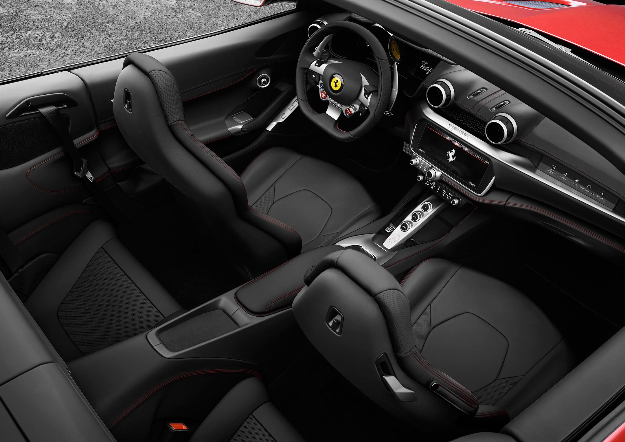 Ferrari Portofino - 2017 - top view - interior / intérieur