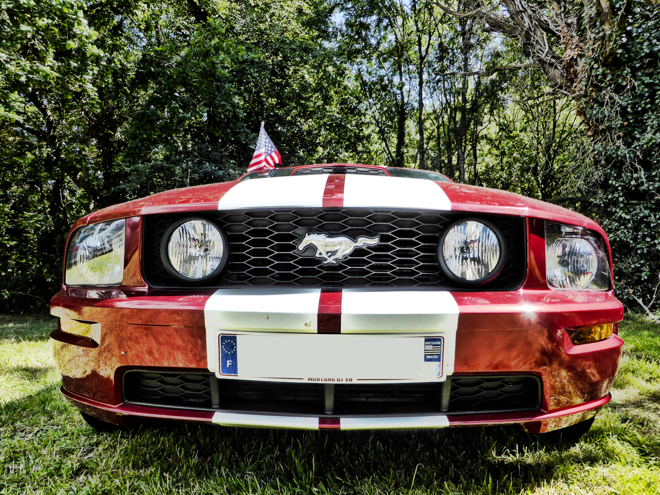 Ford Mustang GT V8 - 2005 - front - US Cars and Bikes 2017 - Photo by ELJ DESIGNMOTEUR