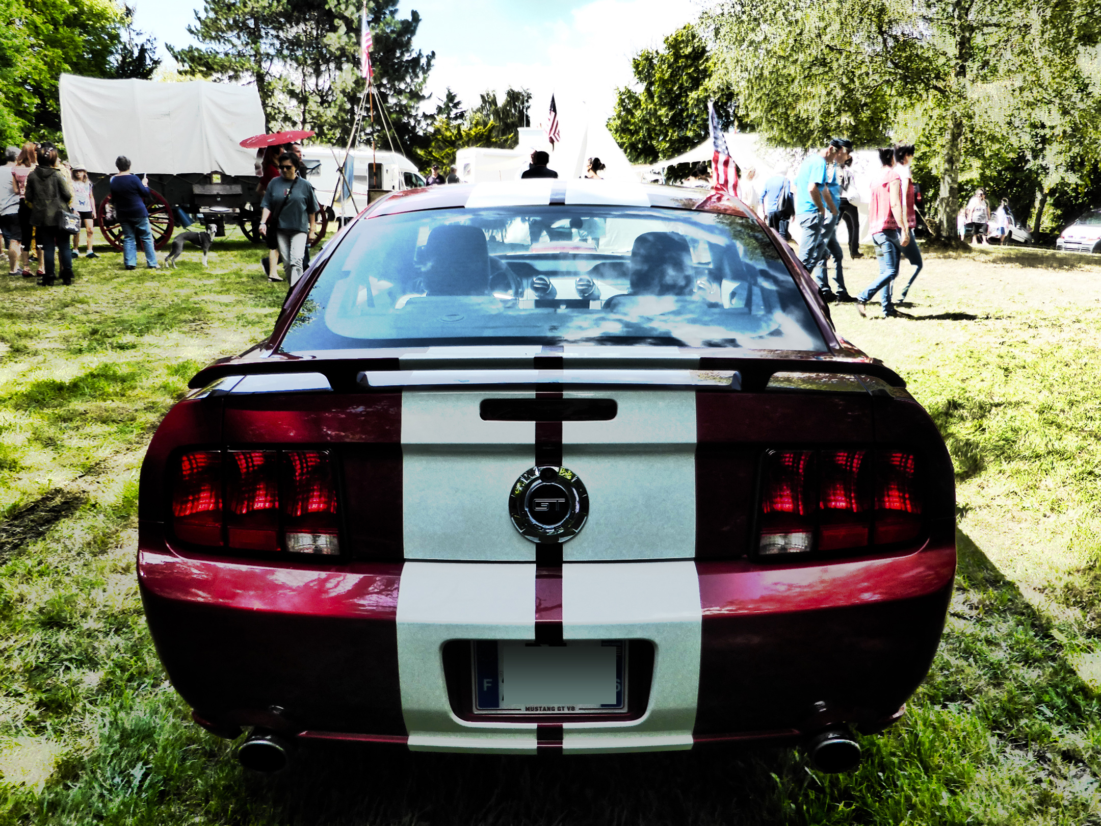 Ford Mustang GT V8 - 2005 - rear - US Cars and Bikes 2017 - Photo by ELJ DESIGNMOTEUR