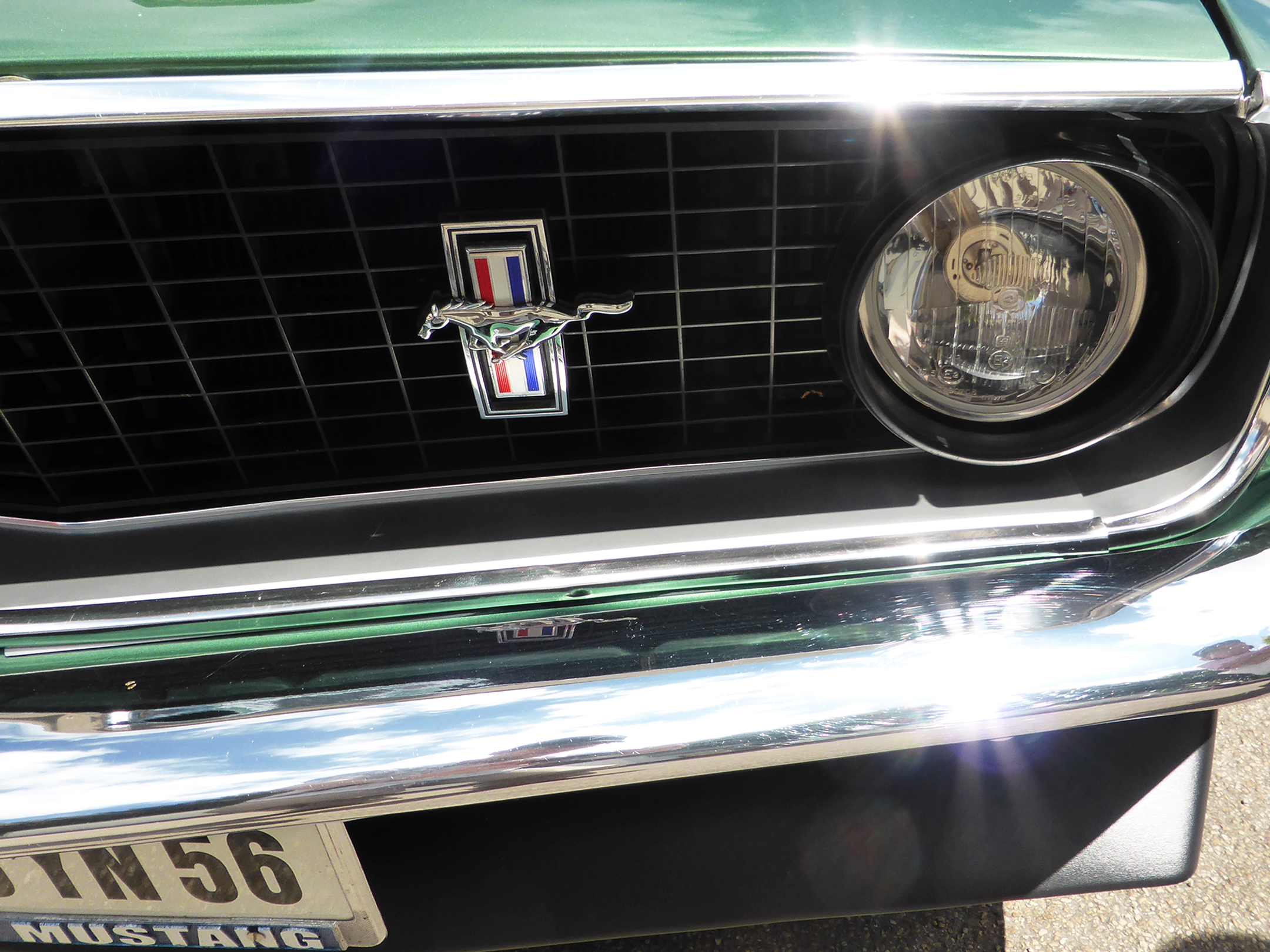 Ford Mustang Mach 1 - 1969 - front zoom - US Cars and Bikes 2017 - Photo by ELJ