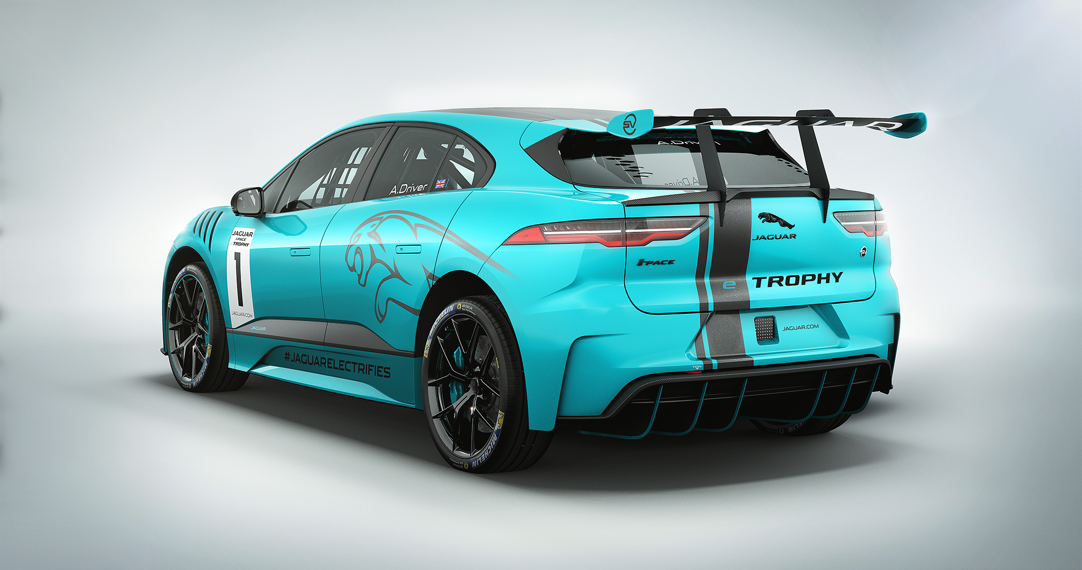 Jaguar I-PACE eTROPHY - 2017 - rear side-face / profil arrière