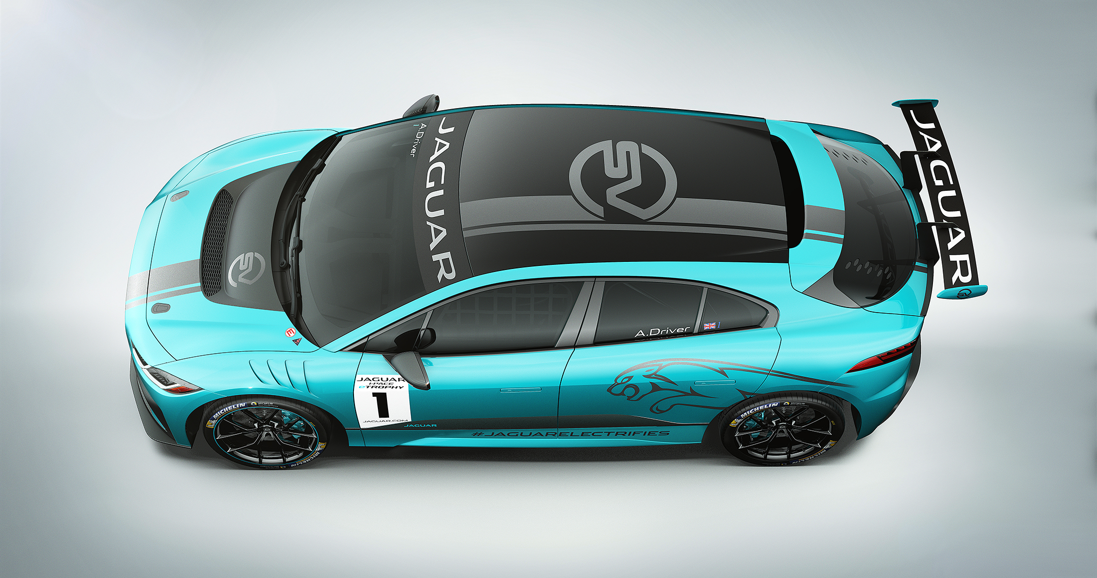 Jaguar I-PACE eTROPHY -  2017 - top side-face / toit profil