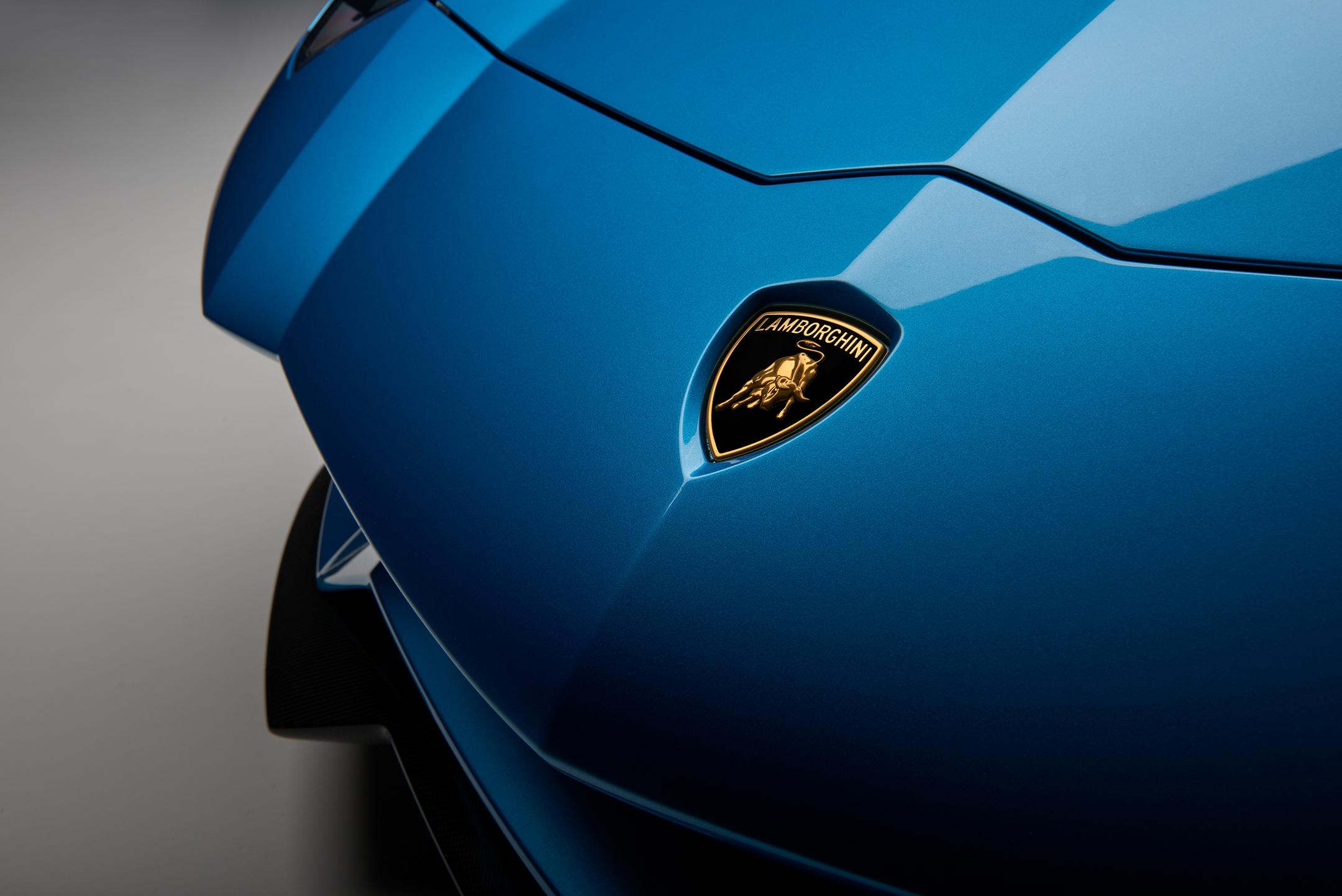 Lamborghini Aventador S Roadster - 2017 - front logo